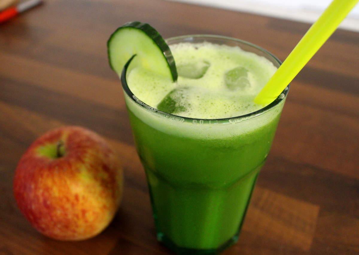 jus vert pomme concombre gingembre