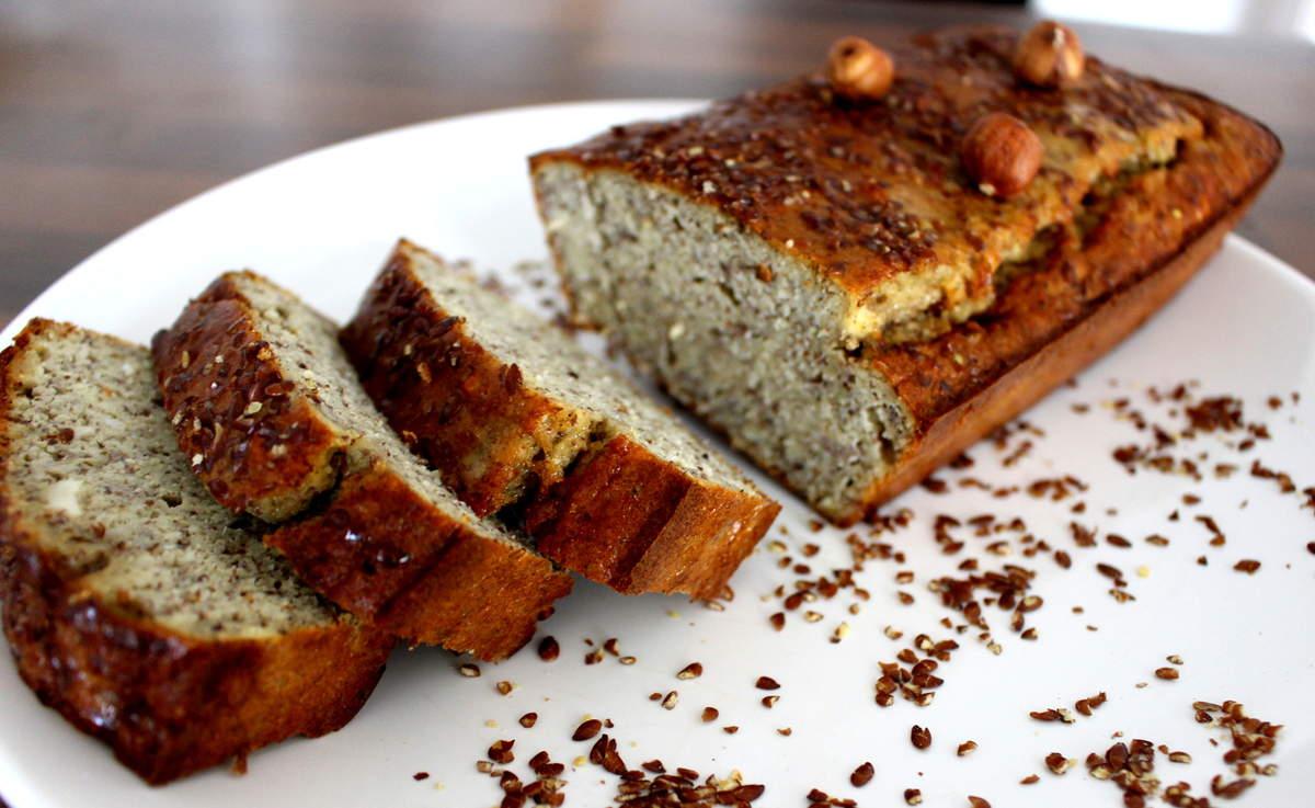 banana bread sans gluten sans lait aux graines de lin