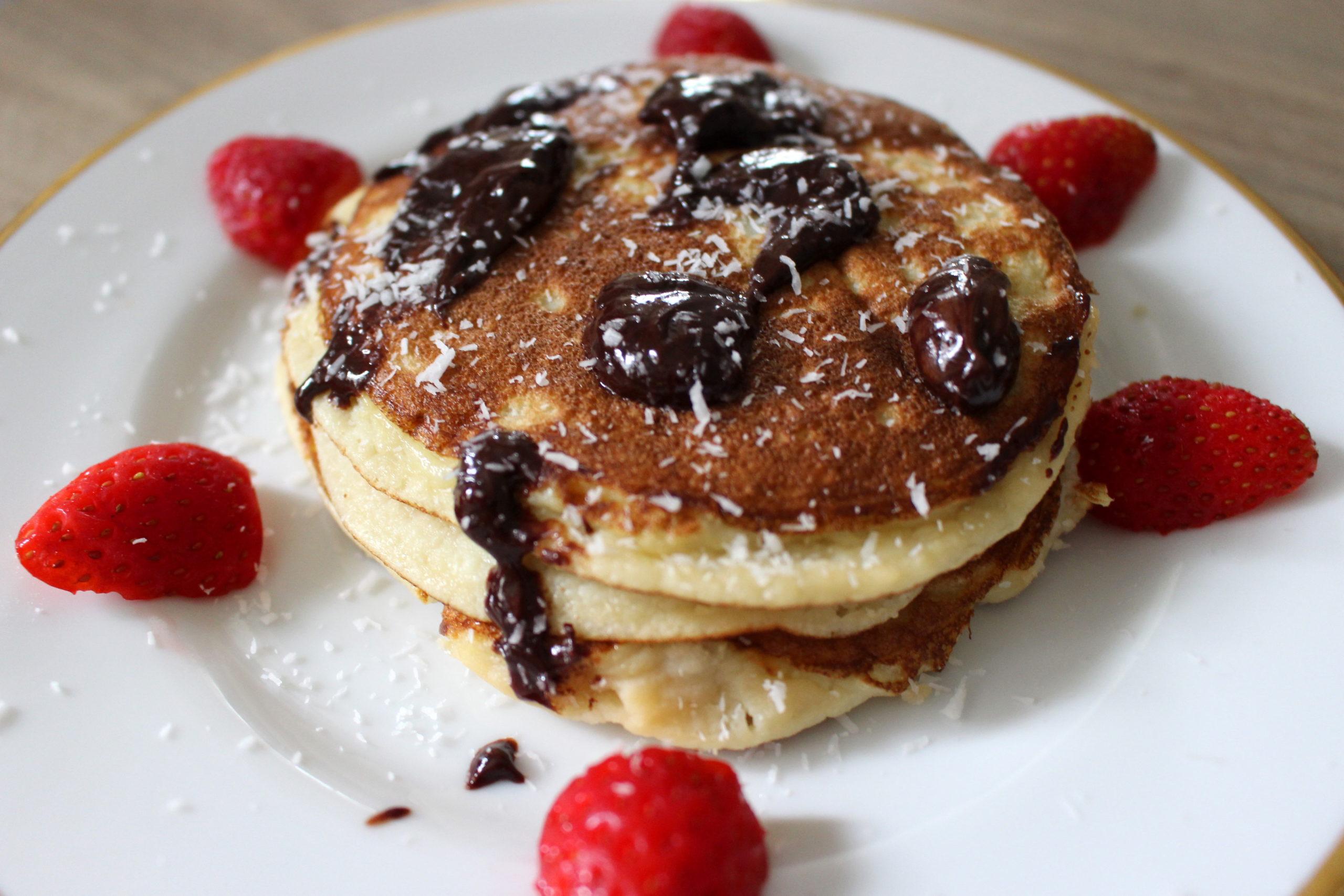 pancakes à la farine de coco sans gluten sans lait