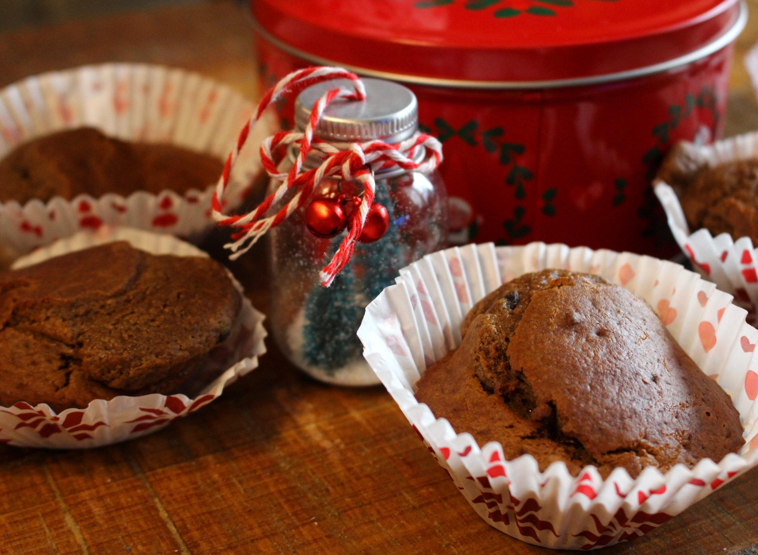 muffins à la farine de châtaigne et aux pépites de chocolat sans gluten sans lait