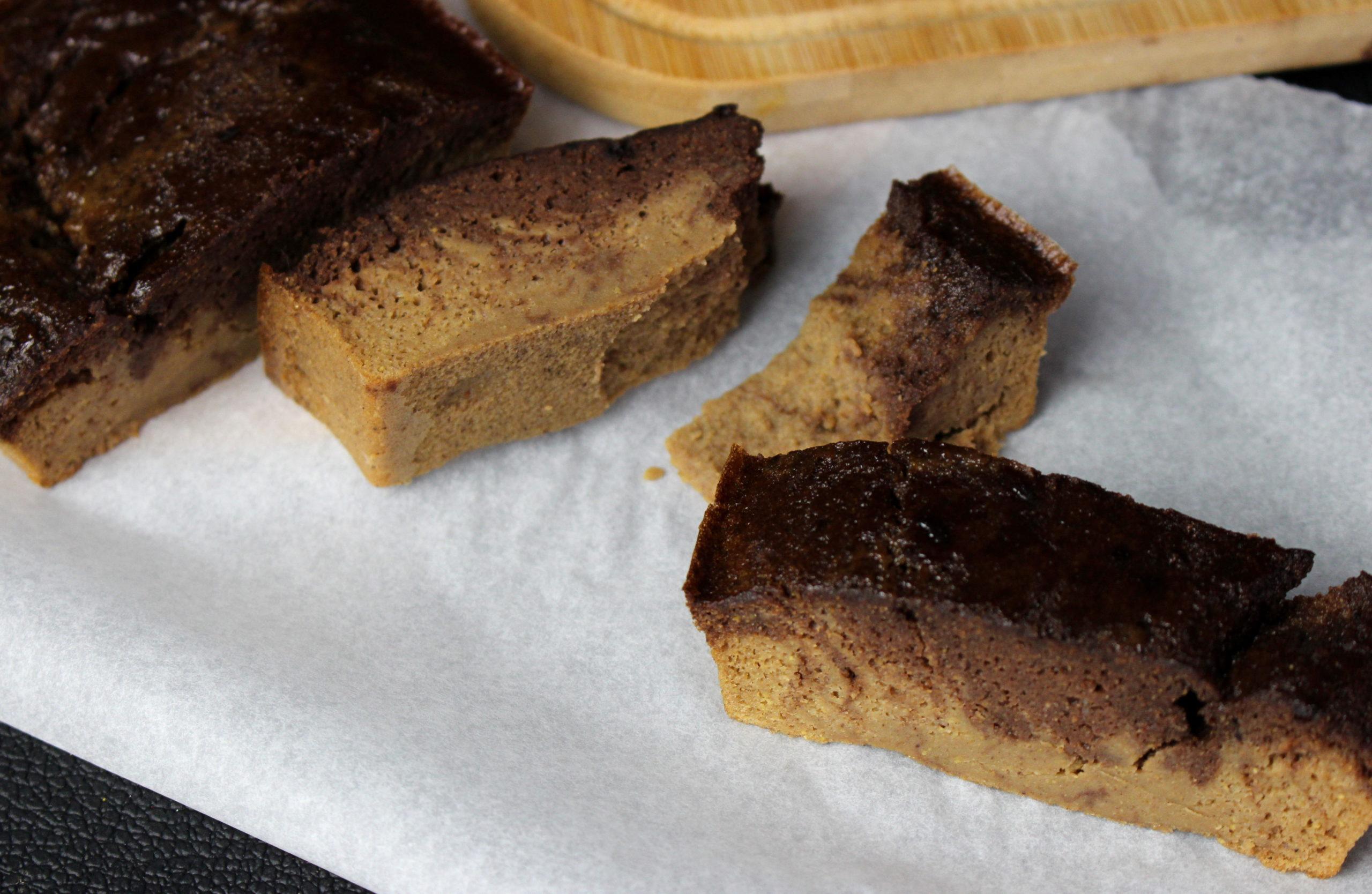 cake à la farine de châtaigne et à la farine de lupin