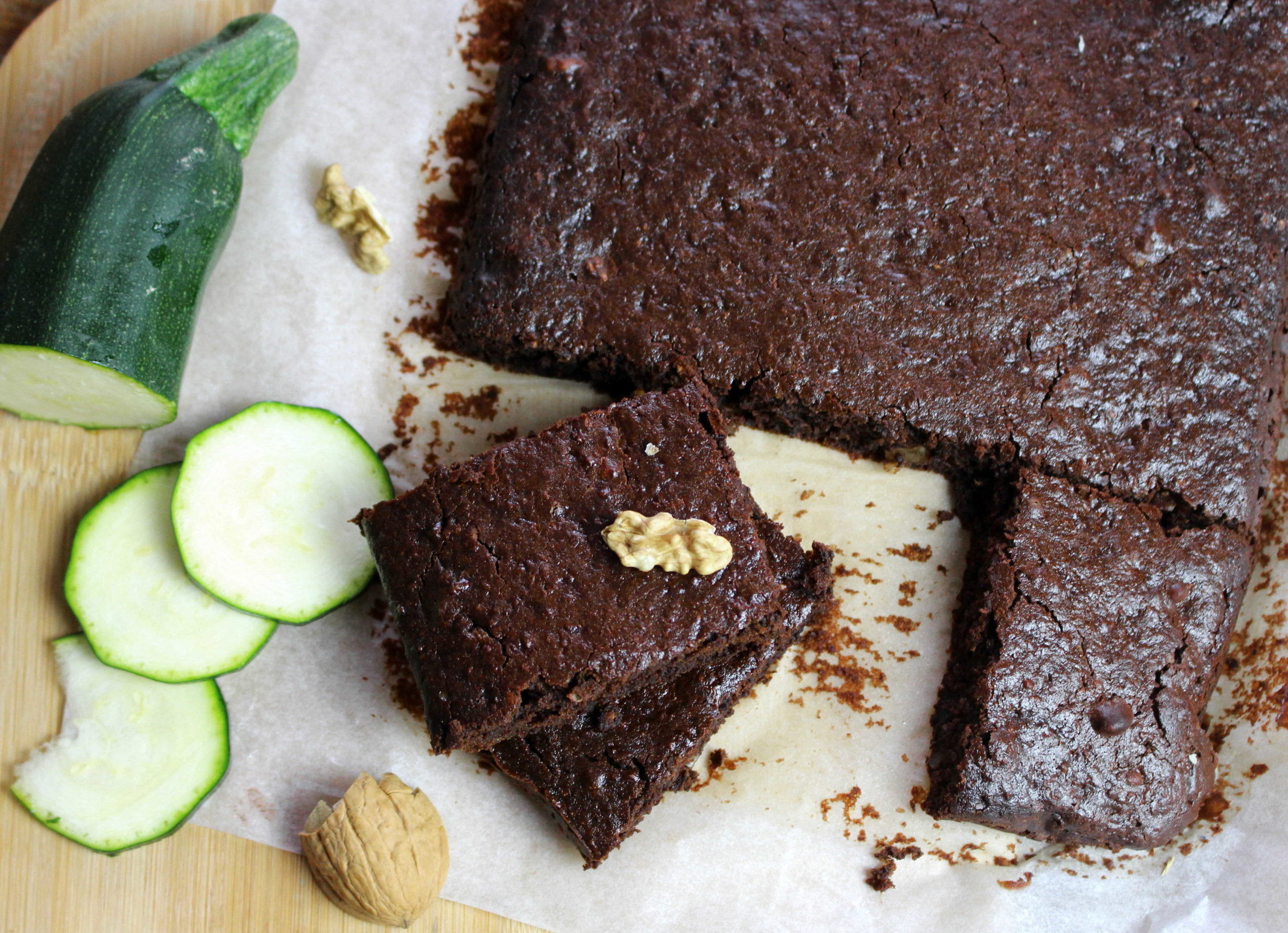 brownie courgette chocolat sans gluten