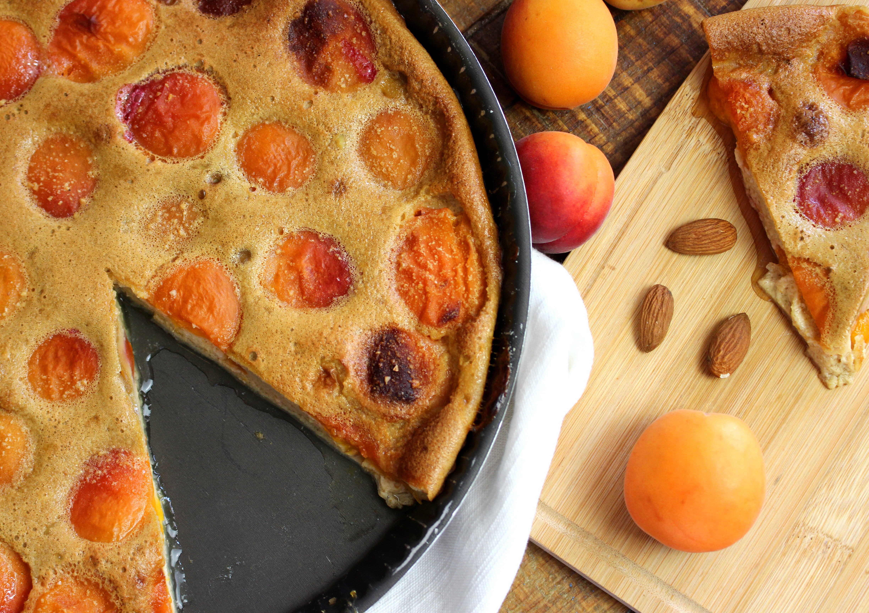 clafoutis aux abricots sans gluten et sans lait