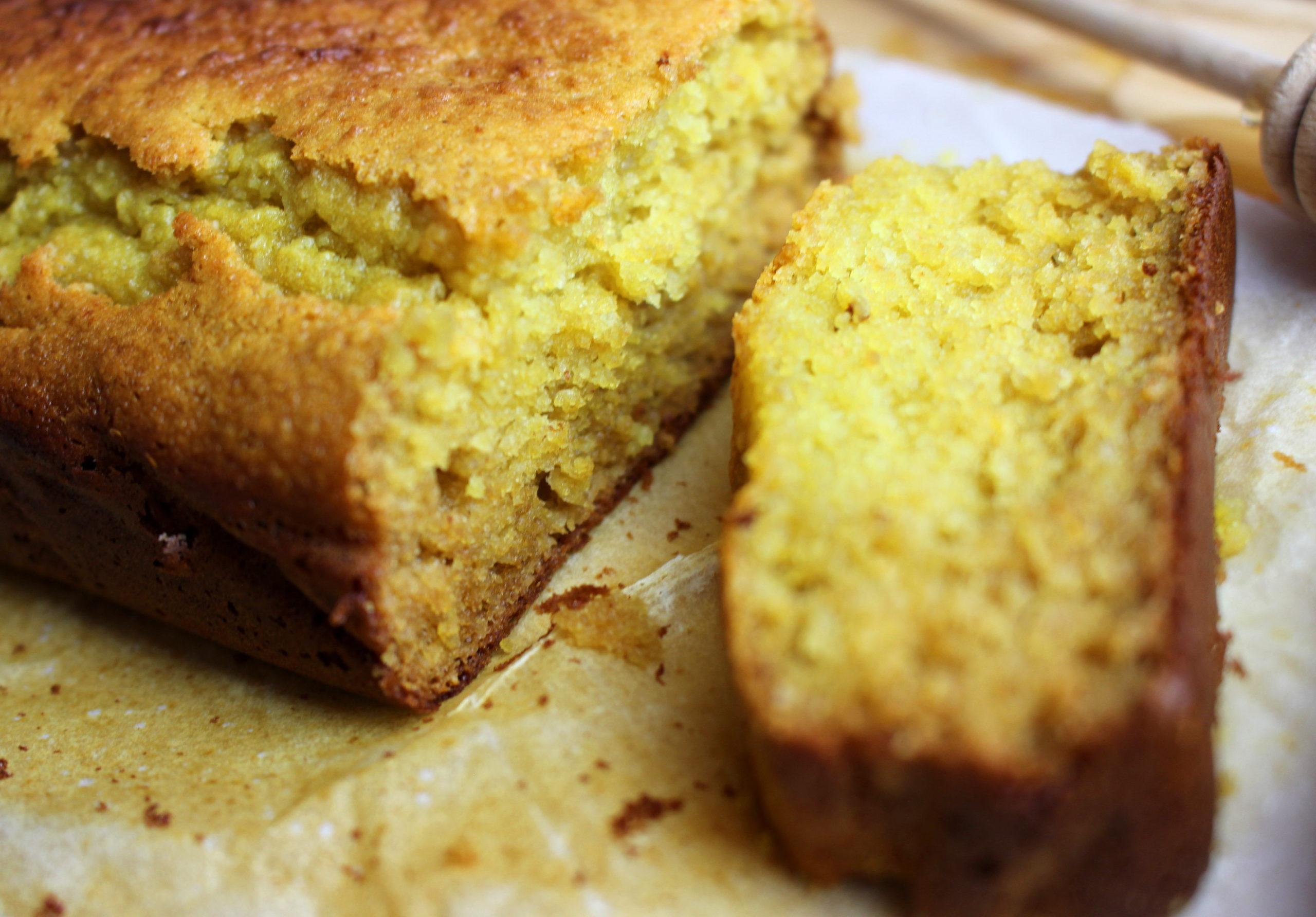 gâteau à la farine de lupin et au miel sans gluten sans lait