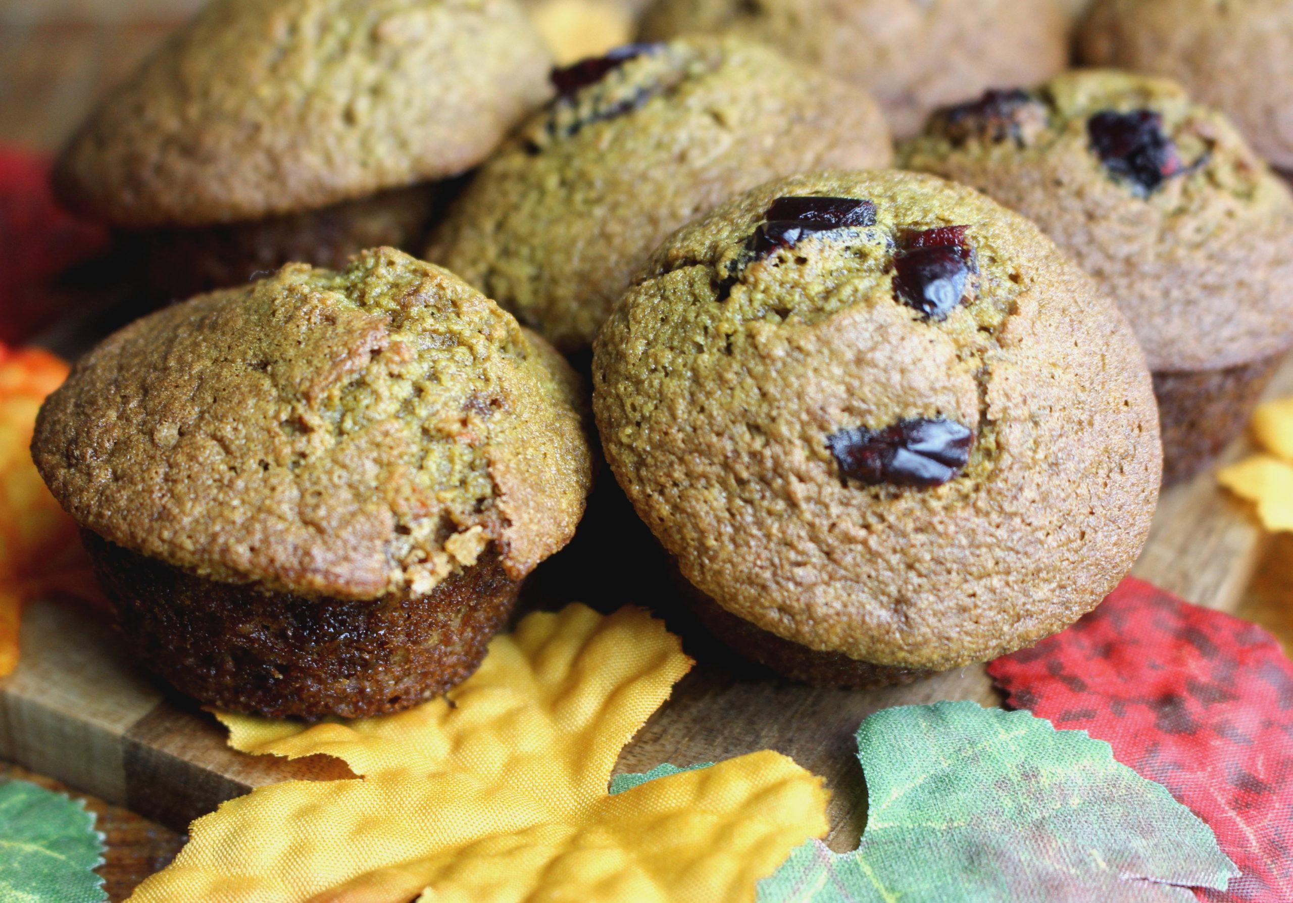 muffins sans gluten sans lait cranberries cannelle paléo