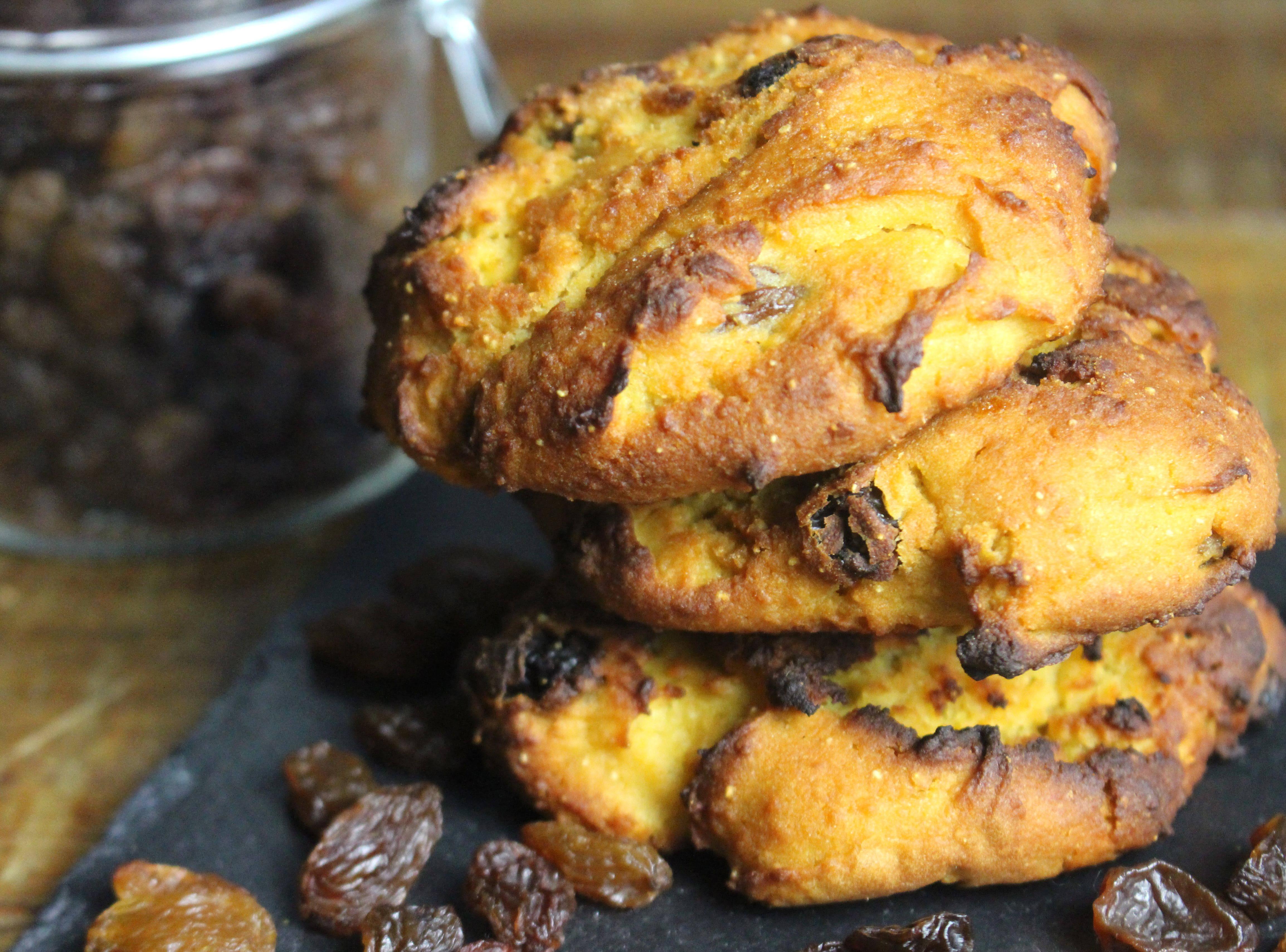 briochettes aux raisins secs sans gluten et sans lait
