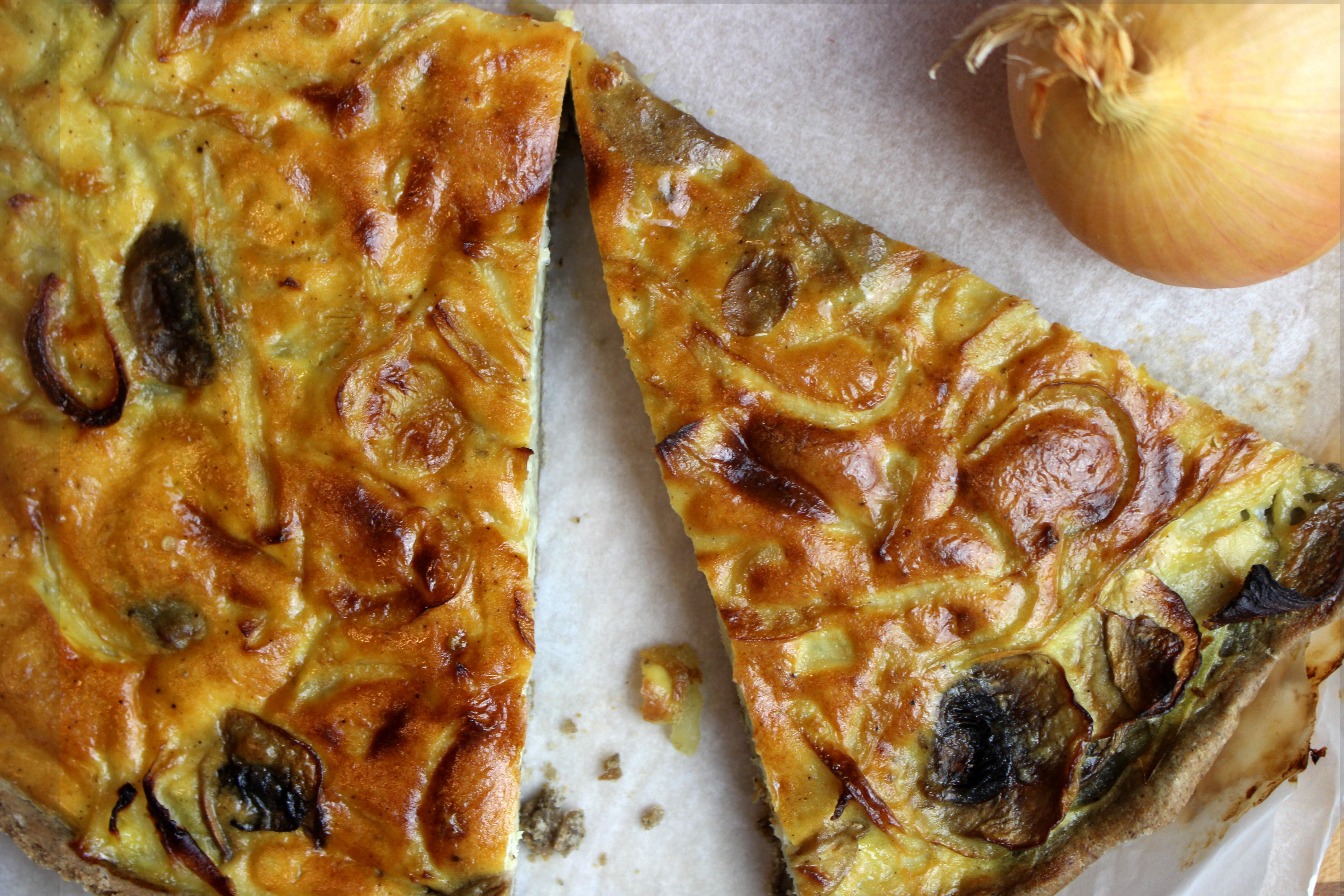 tarte aux champignons sans gluten et sansl lait