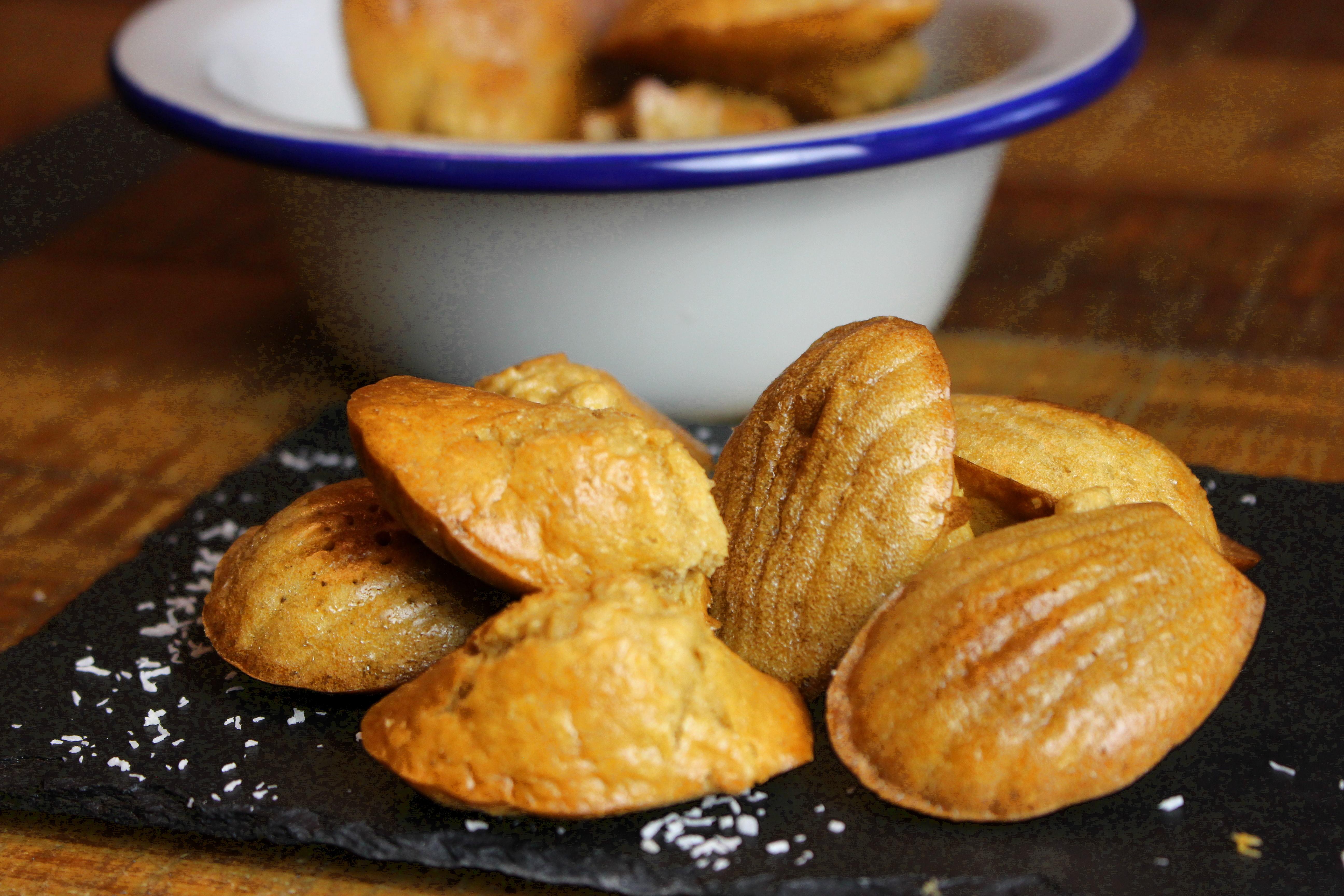 madeleines paléos sans gluten et sans lait