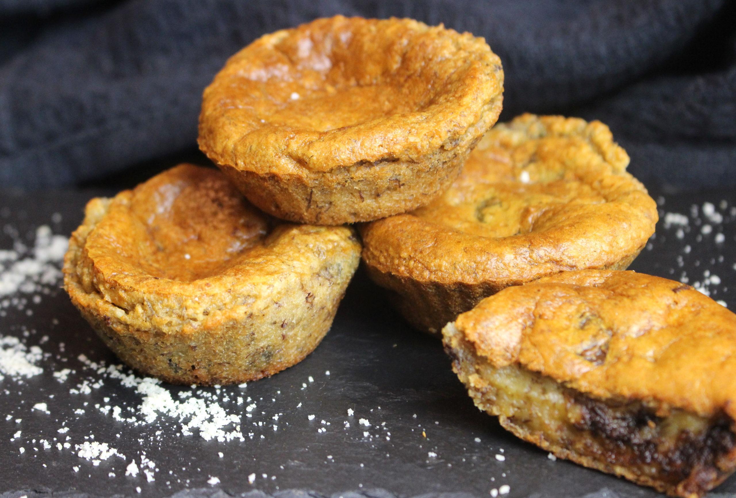 muffins banane chocolat sans gluten et sans lait