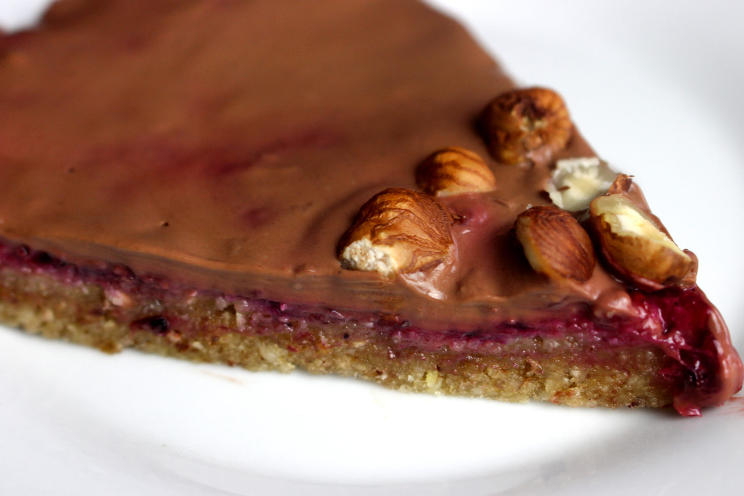tarte crue chocolat fruits rouges