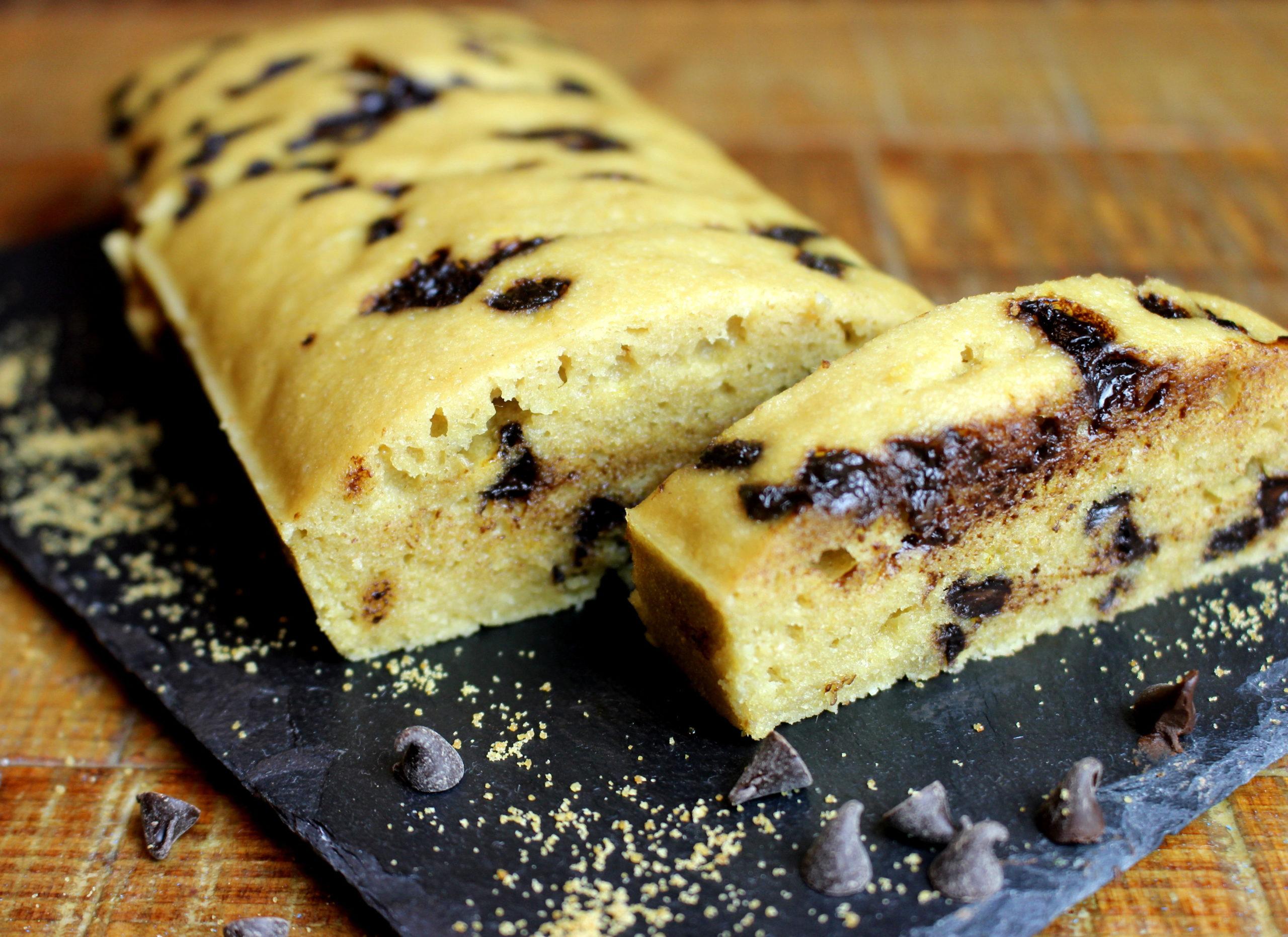 cake aux pépites de chocolat sans gluten sans lait au vitaliseur