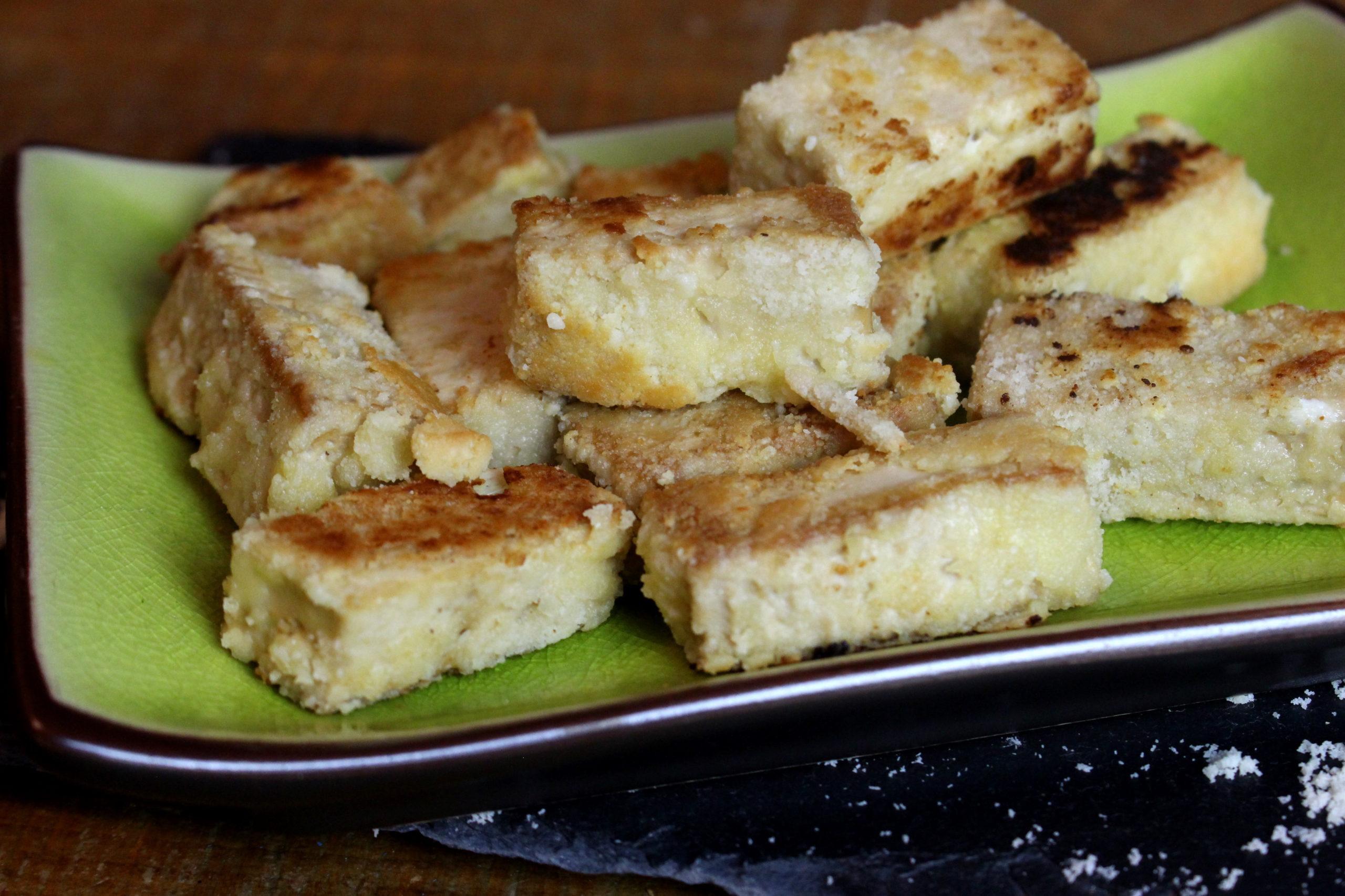 nuggets de tofu à la poudre d'amande
