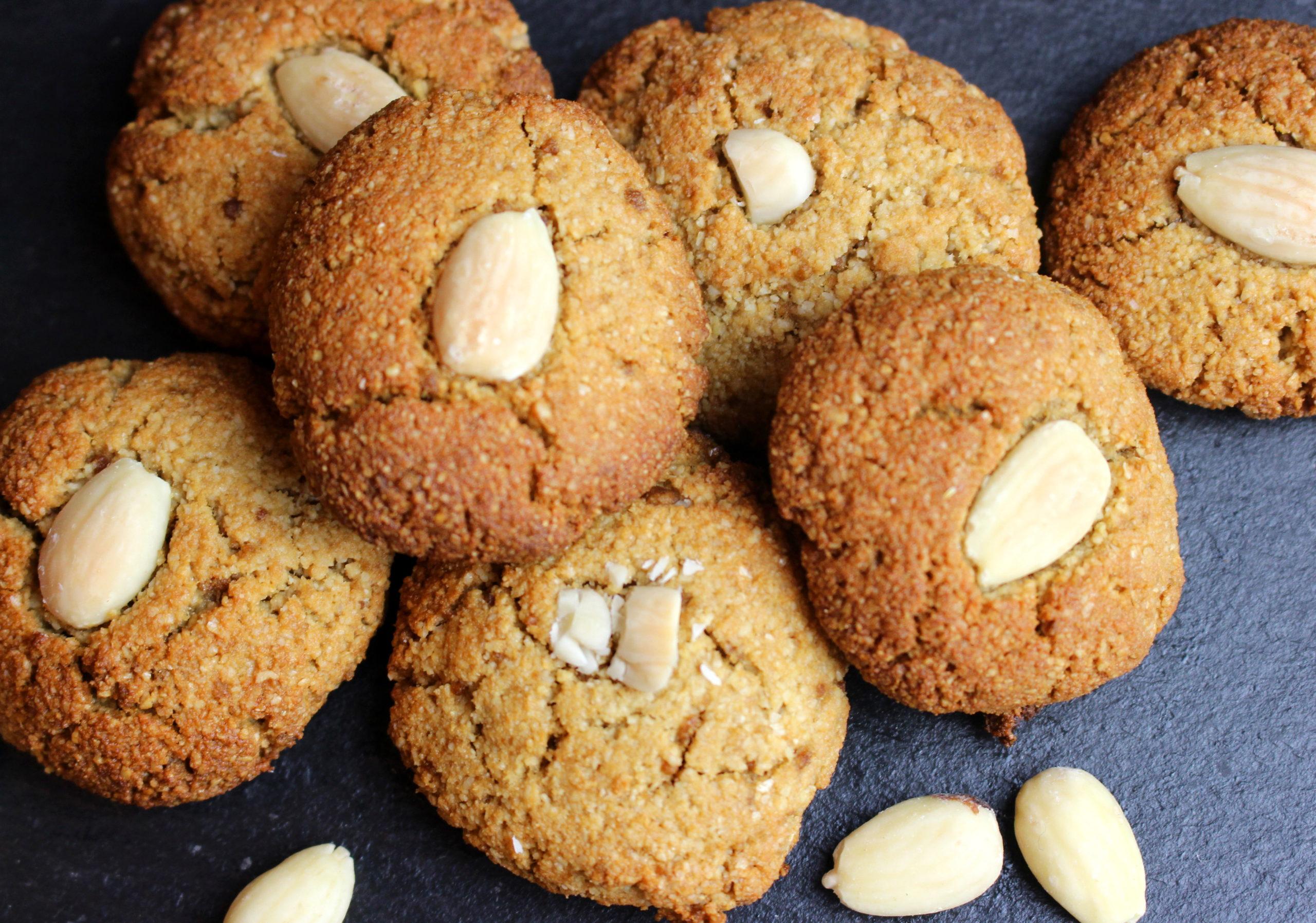 biscuit à l'amande sans gluten sans lait