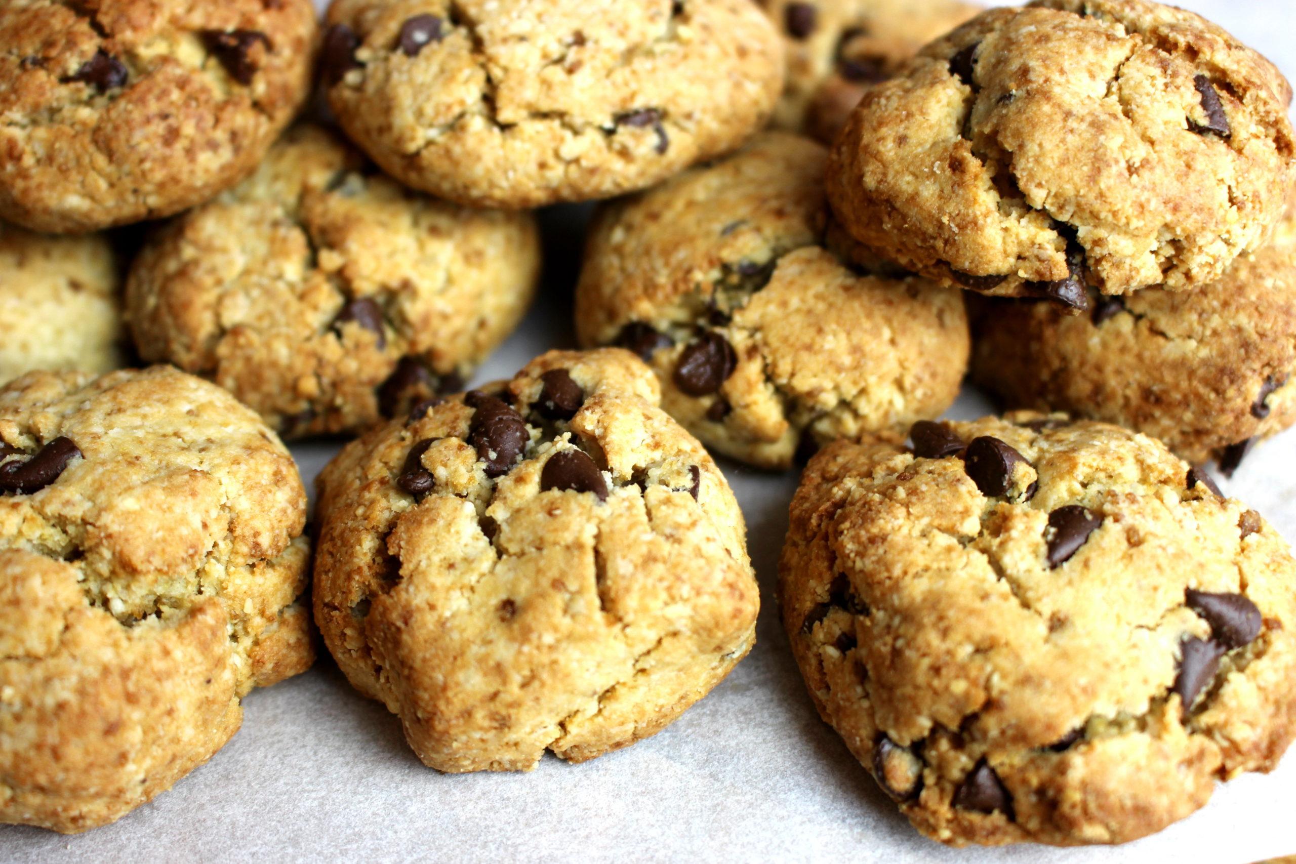 cookies à l'amande et au chocolat sans gluten sans lait végan
