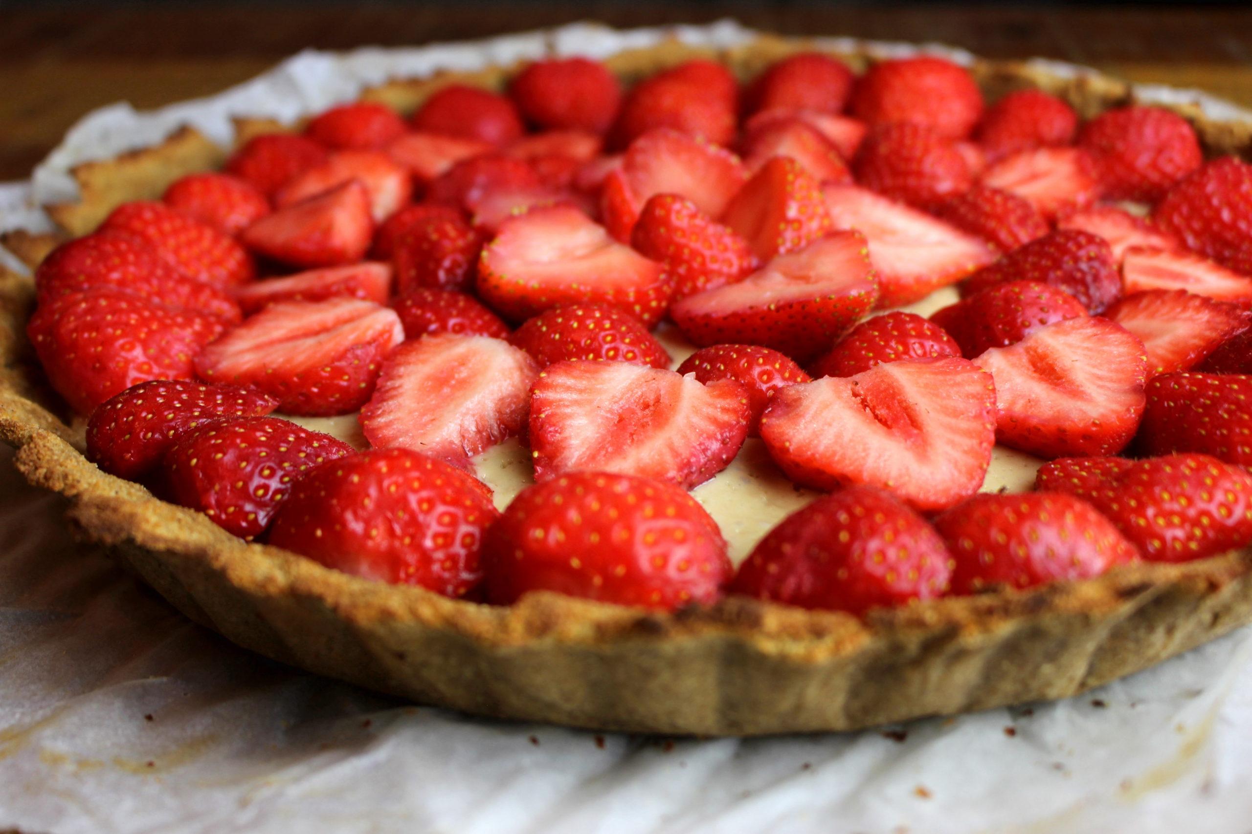 tarte aux fraises sans gluten sans lait paléo