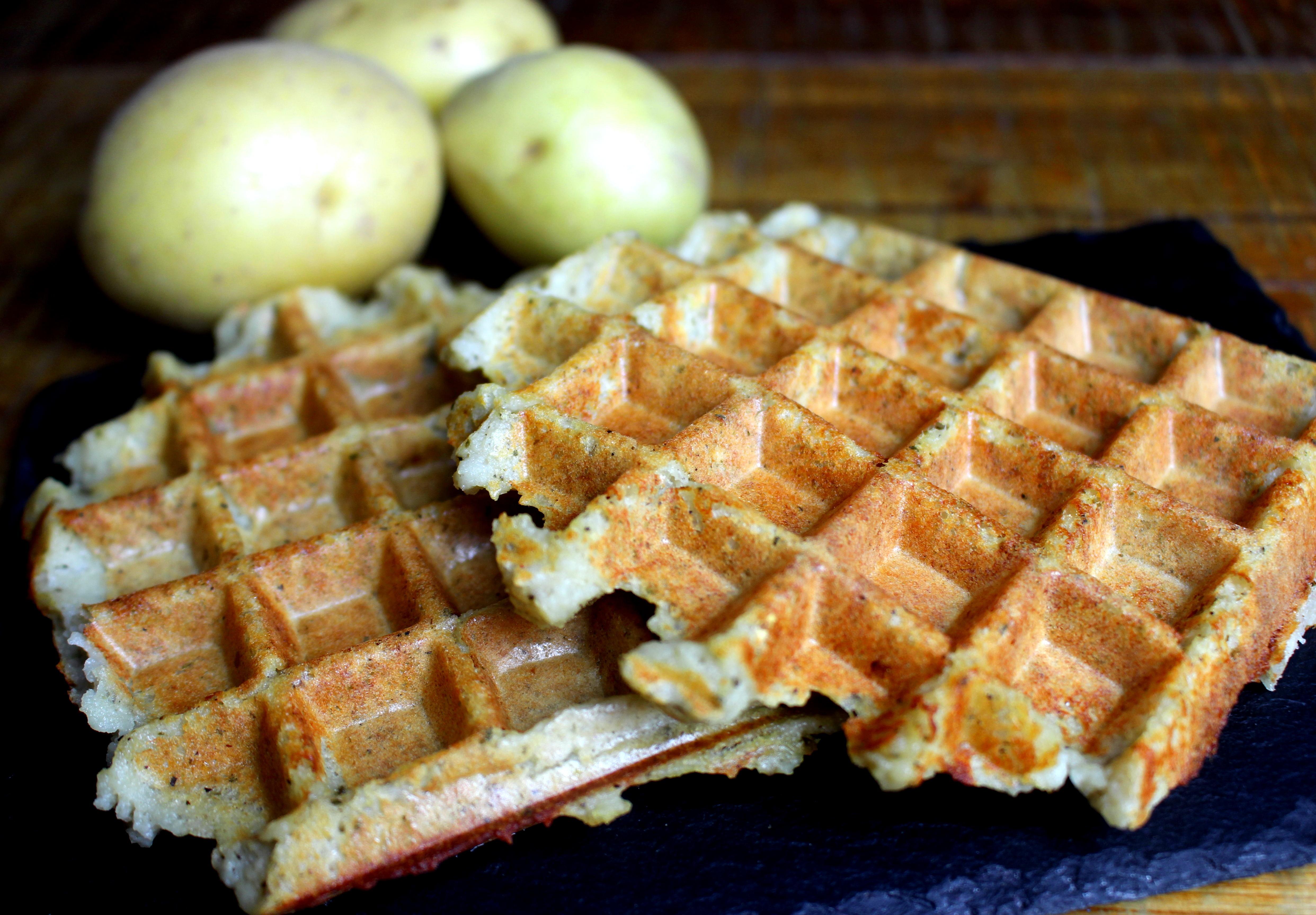 gaufres salées de pommes de terre sans gluten sans lait