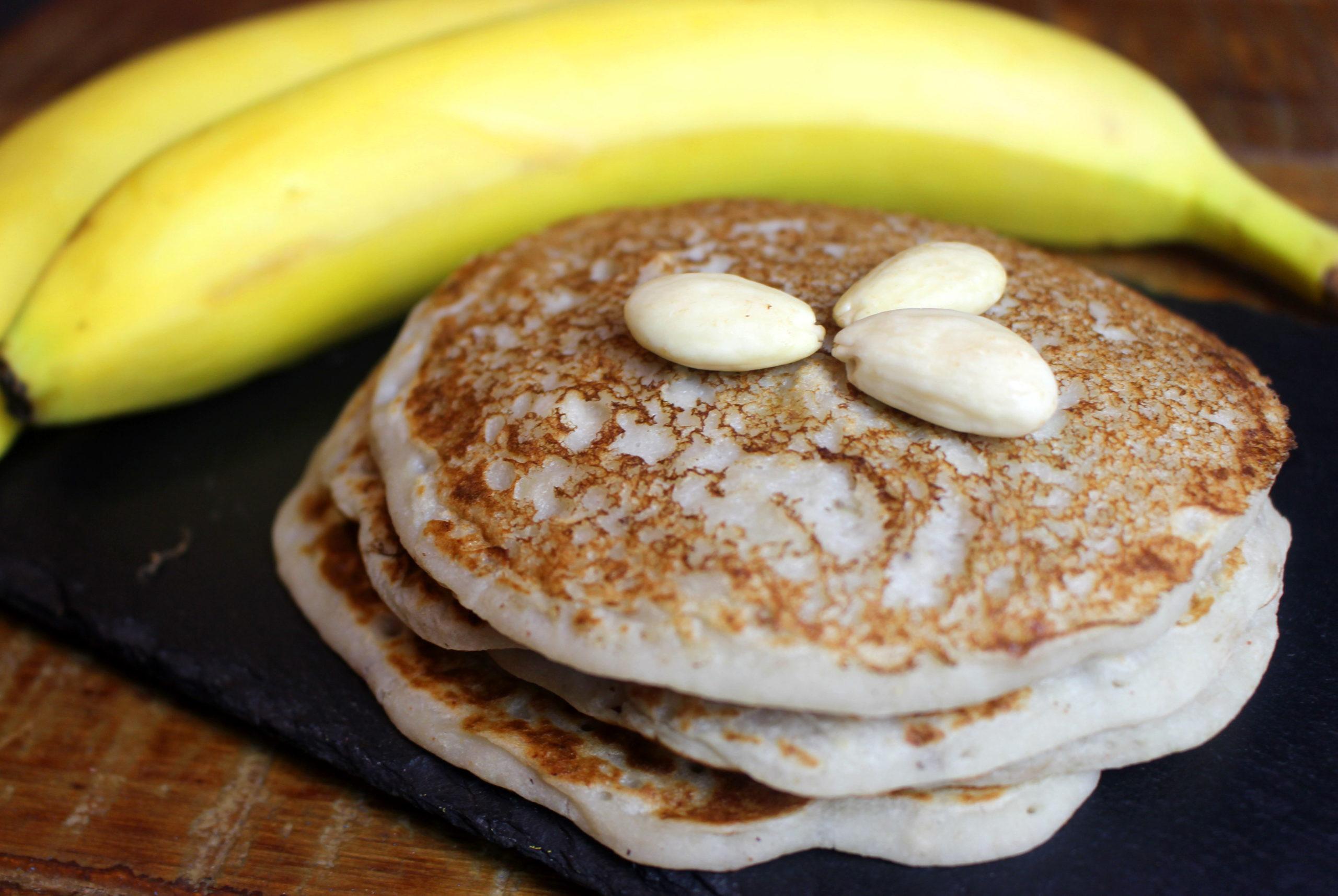 recette de pancakes à la banane sans gluten végans