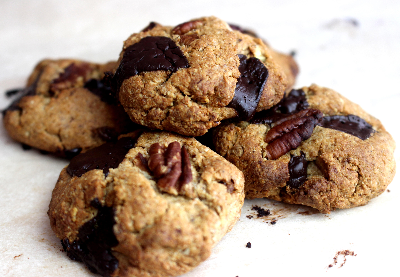 cookies sans gluten sans lait pécan chocolat noir