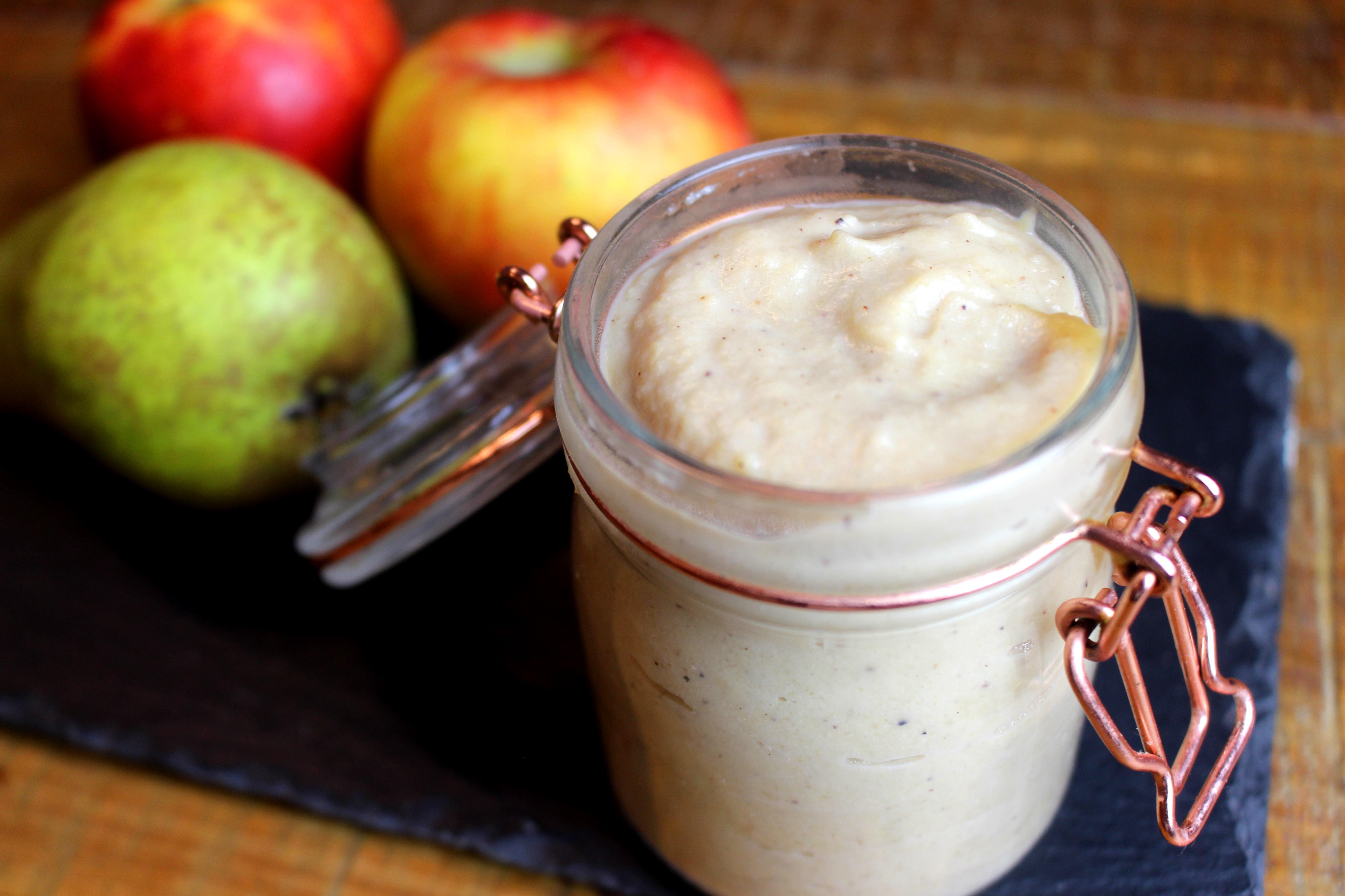 tartinade pomme poire sans lait