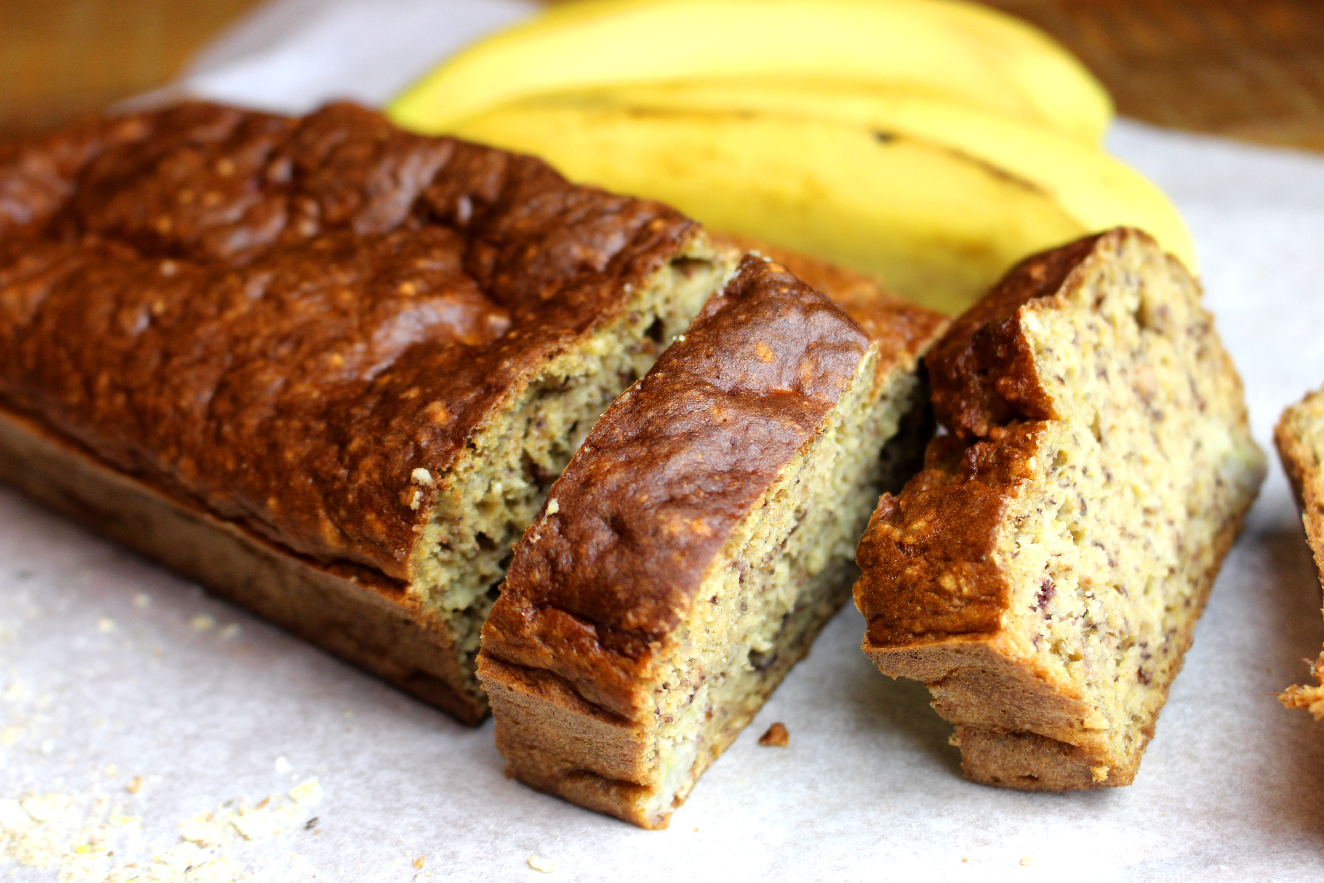 banana bread sans gluten sans lait à l'avoine