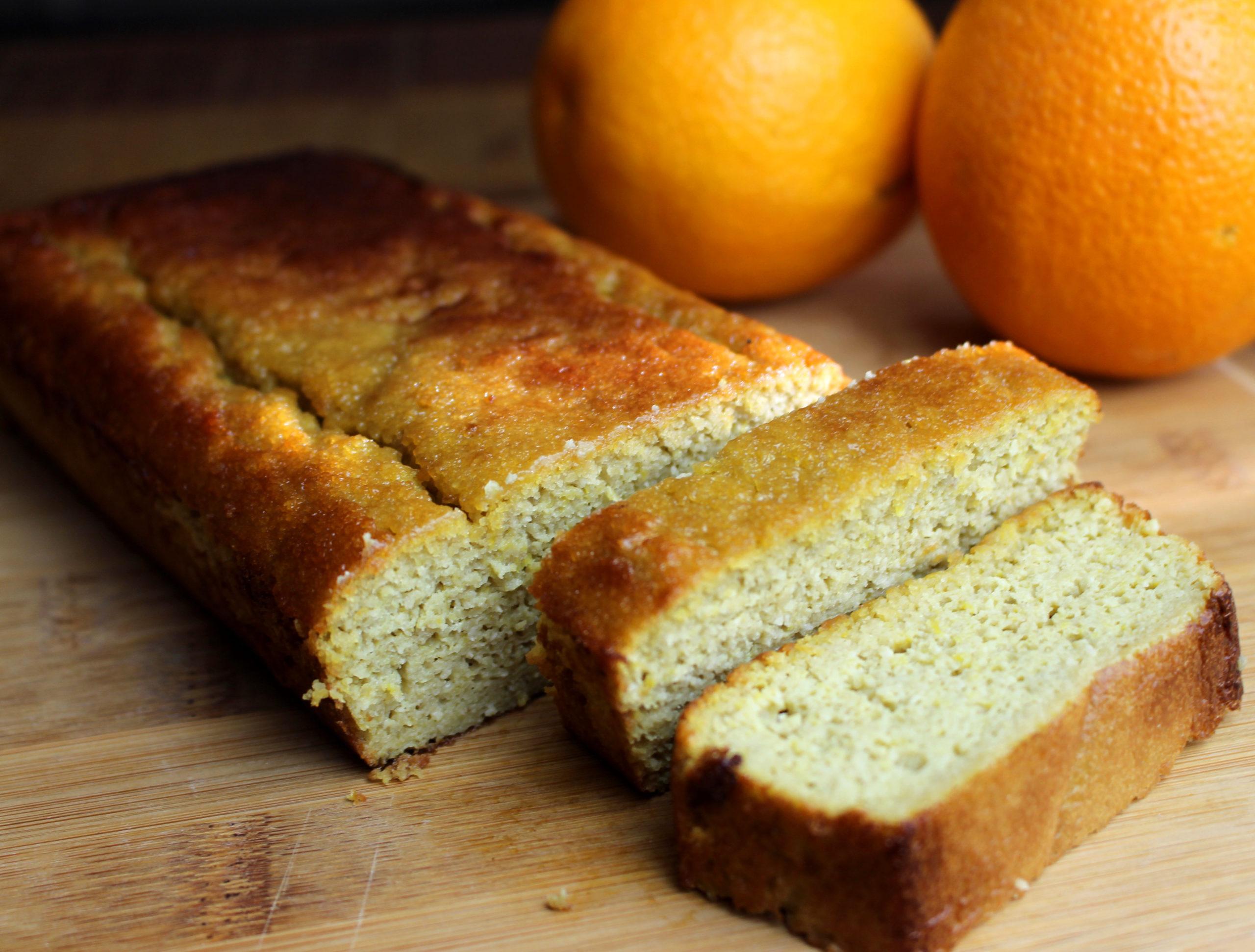 cake à l'orange sans gluten sans lait