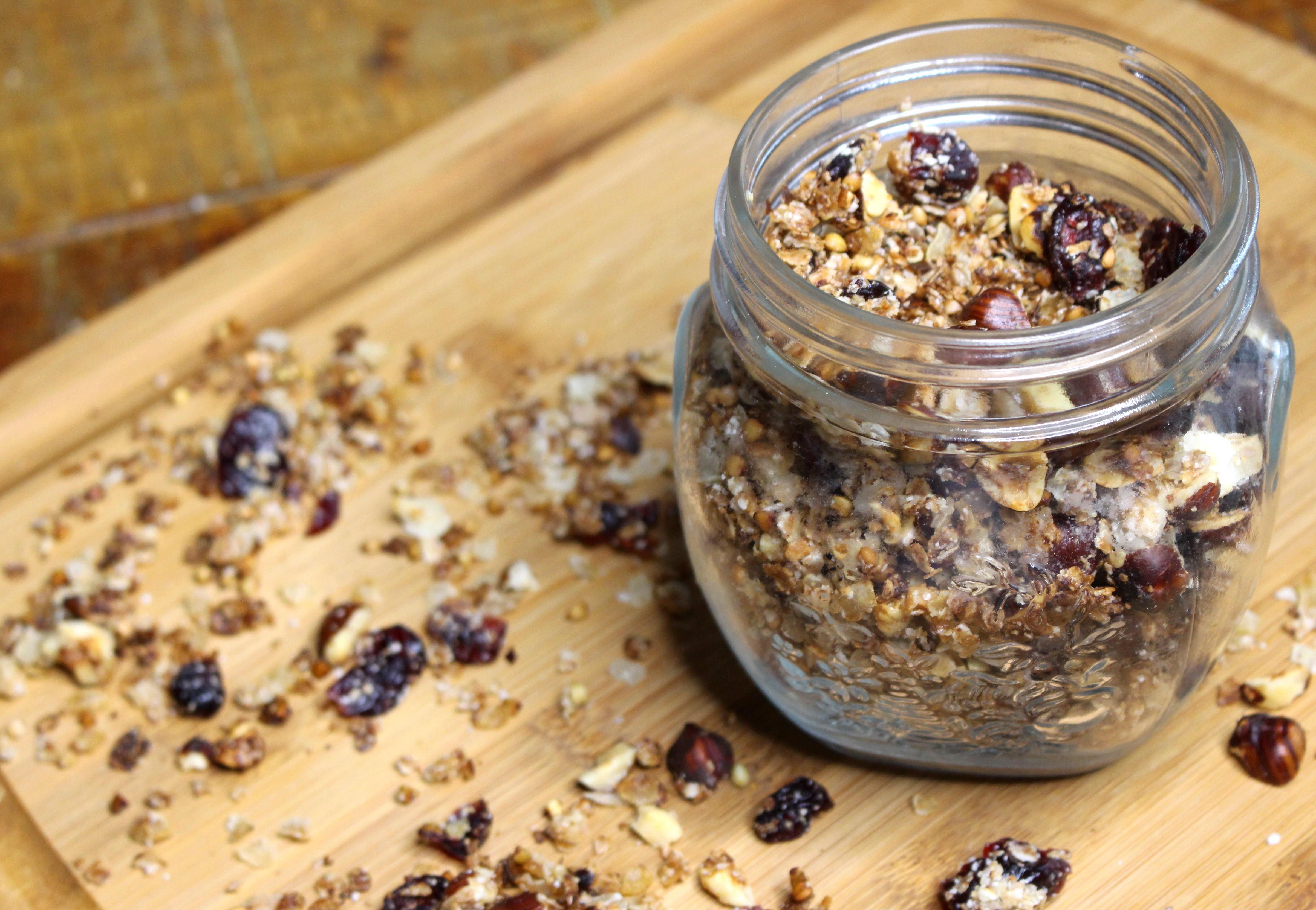 granolas cranberries noisettes sarrasin
