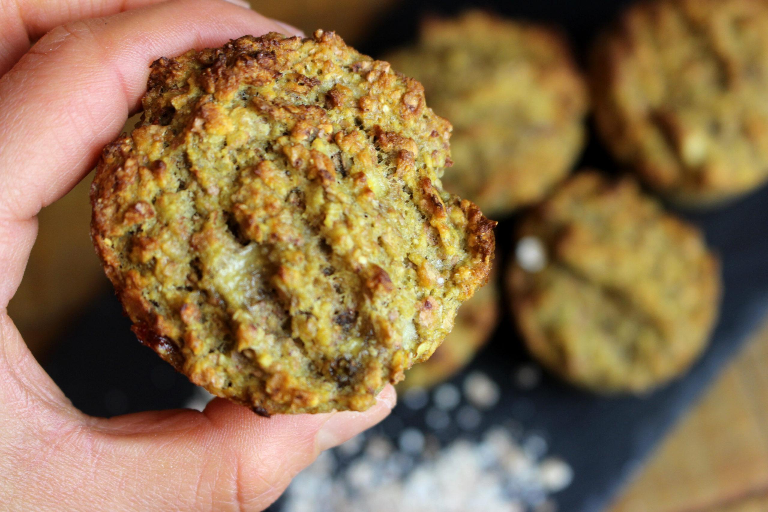 muffins aux flocons de sarrasin sans gluten sans lait paléo