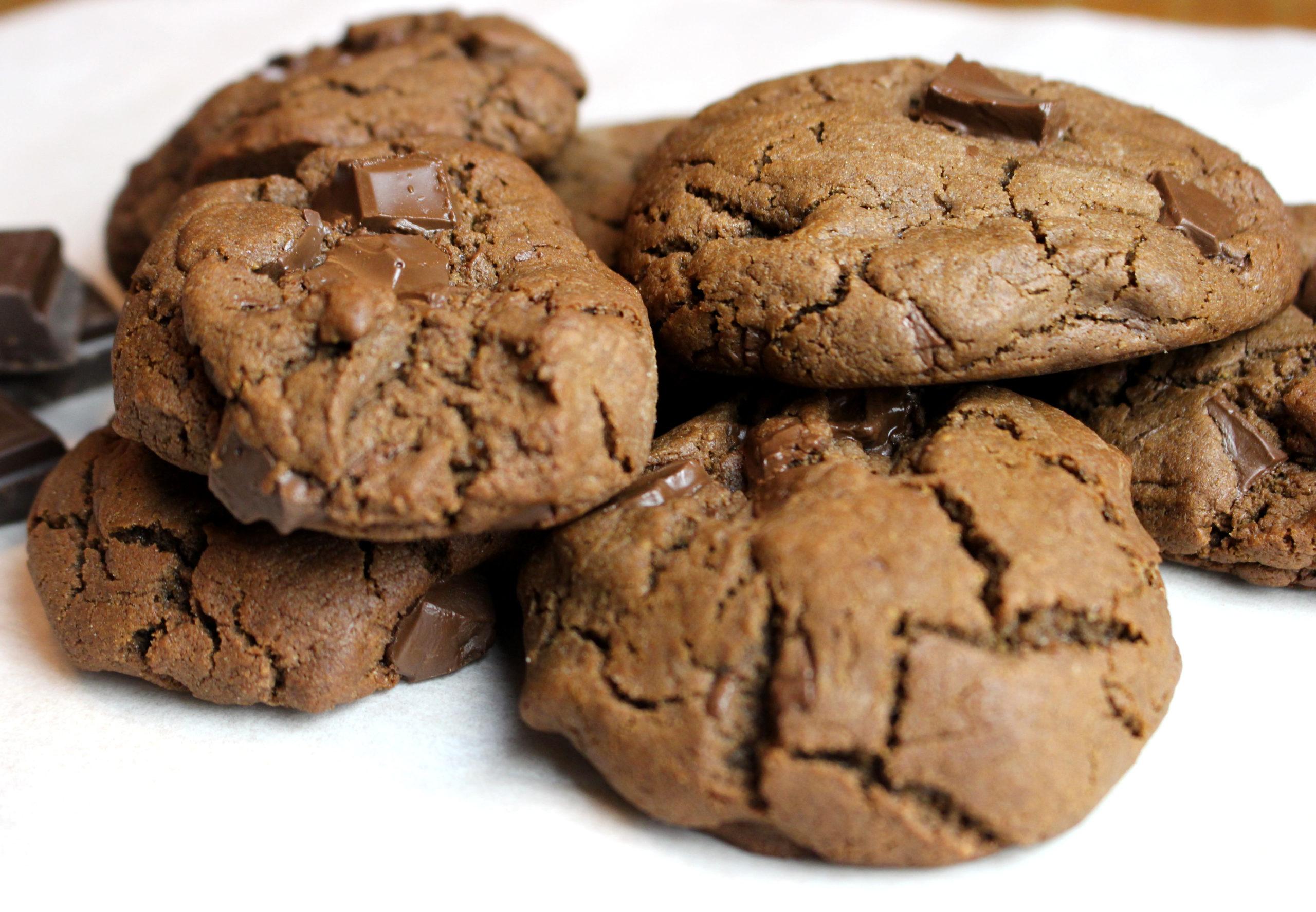 cookies tout chocolat sans gluten sans lait