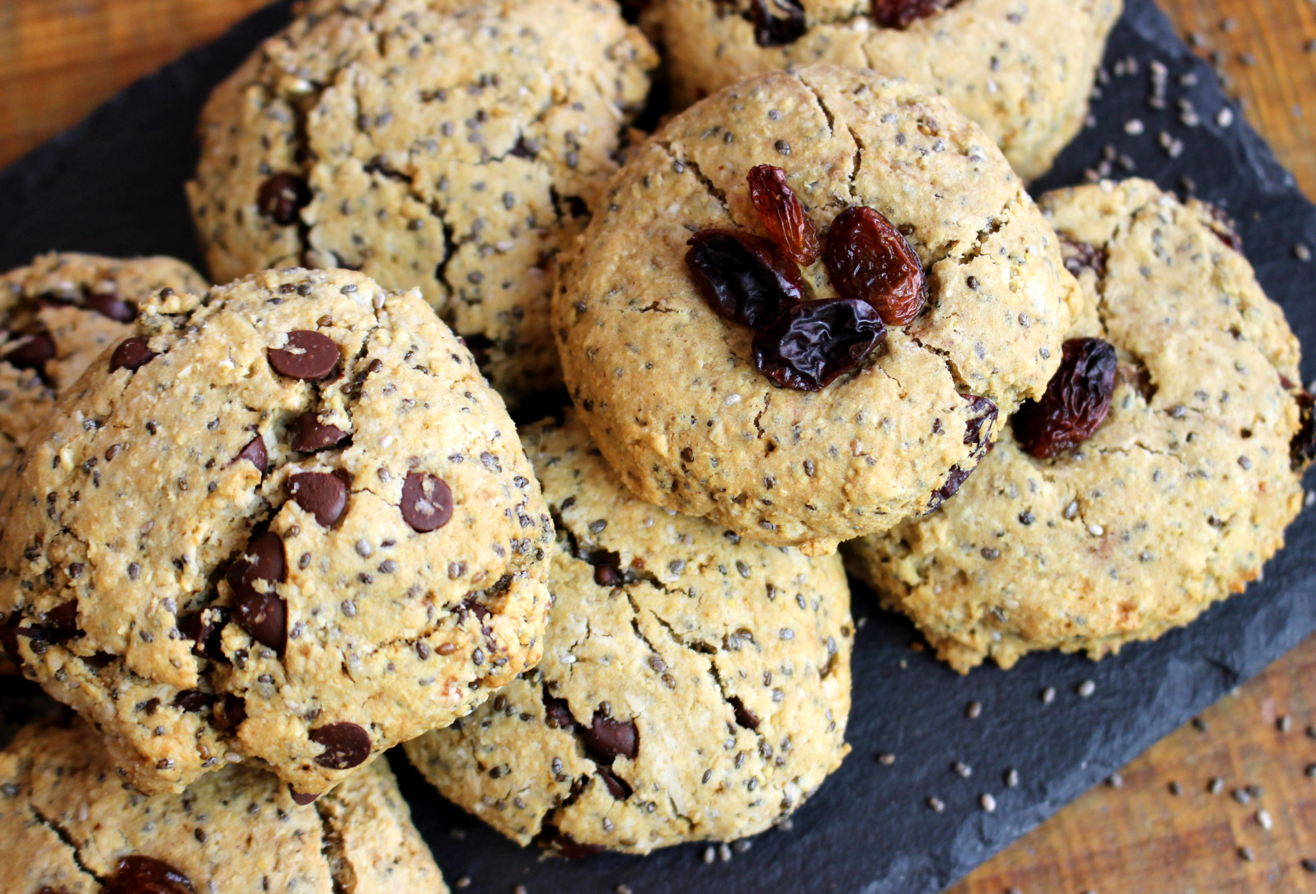 cookies aux graines de chia sans gluten vegans
