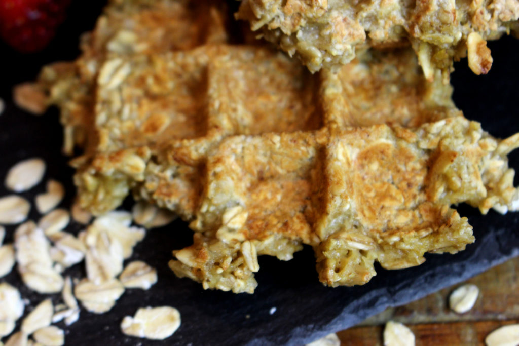 gaufres healthy aux flocons d'avoine