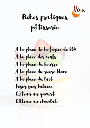 fiches pratiques pâtisserie