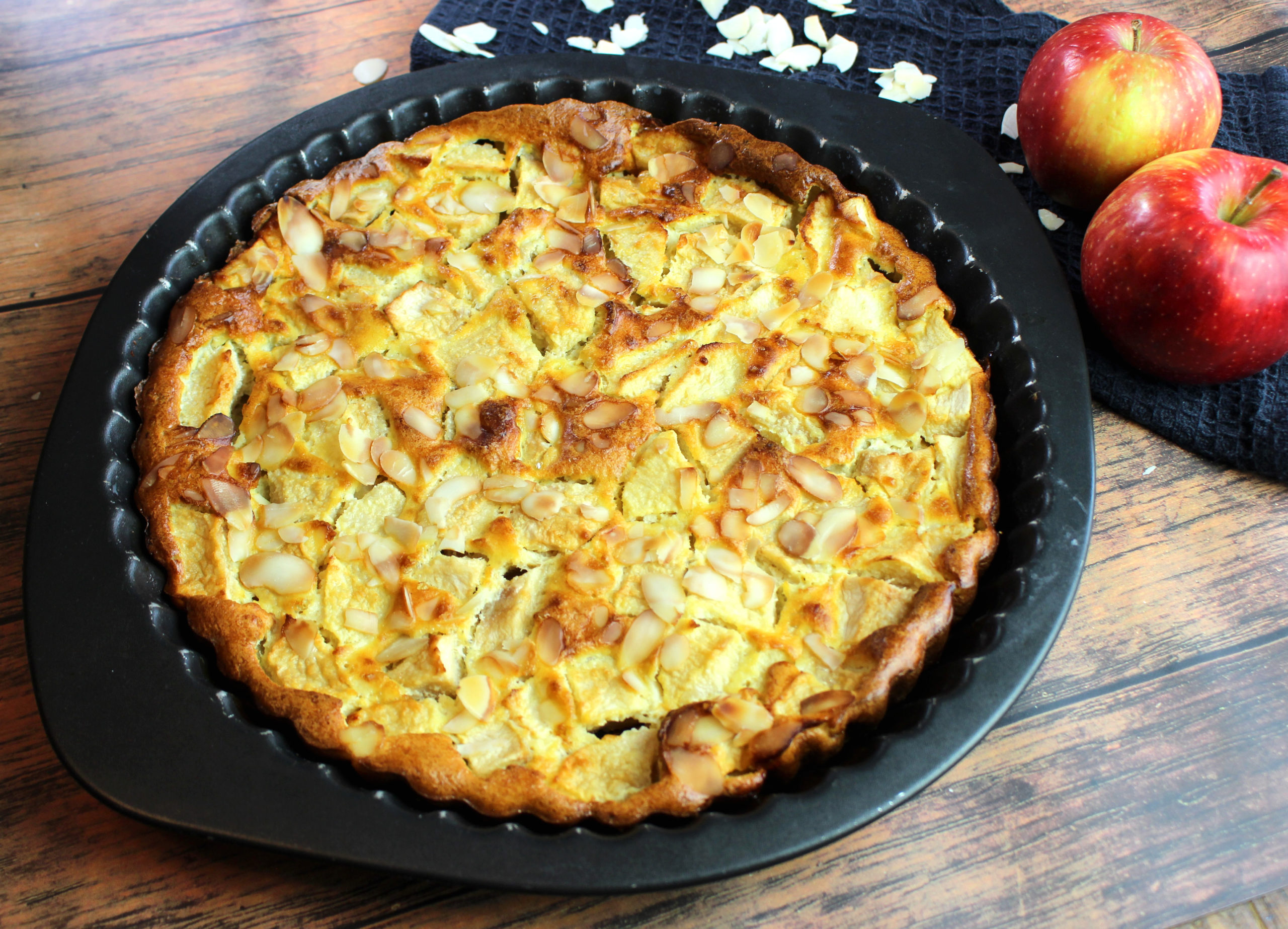 clafoutis aux pommes et au miel