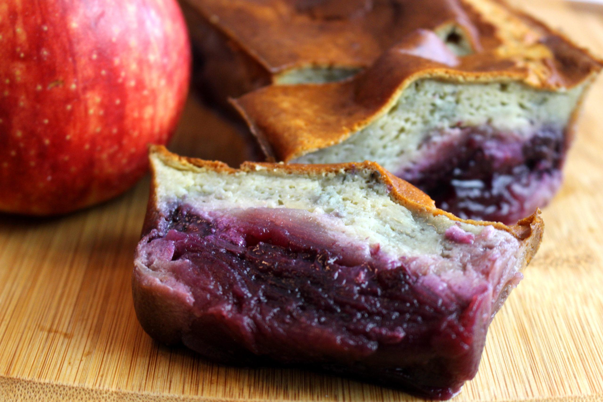 cake pomme myrtilles sans gluten sans lait