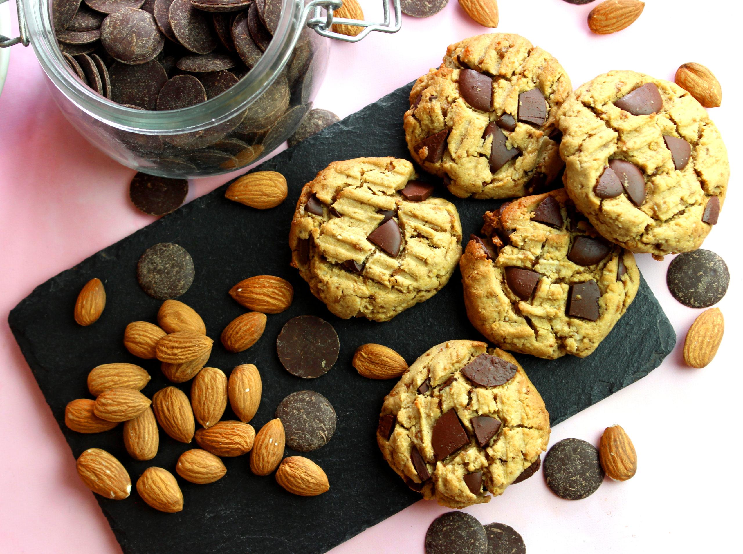 cookies à la purée d'amande sans gluten et sans lait
