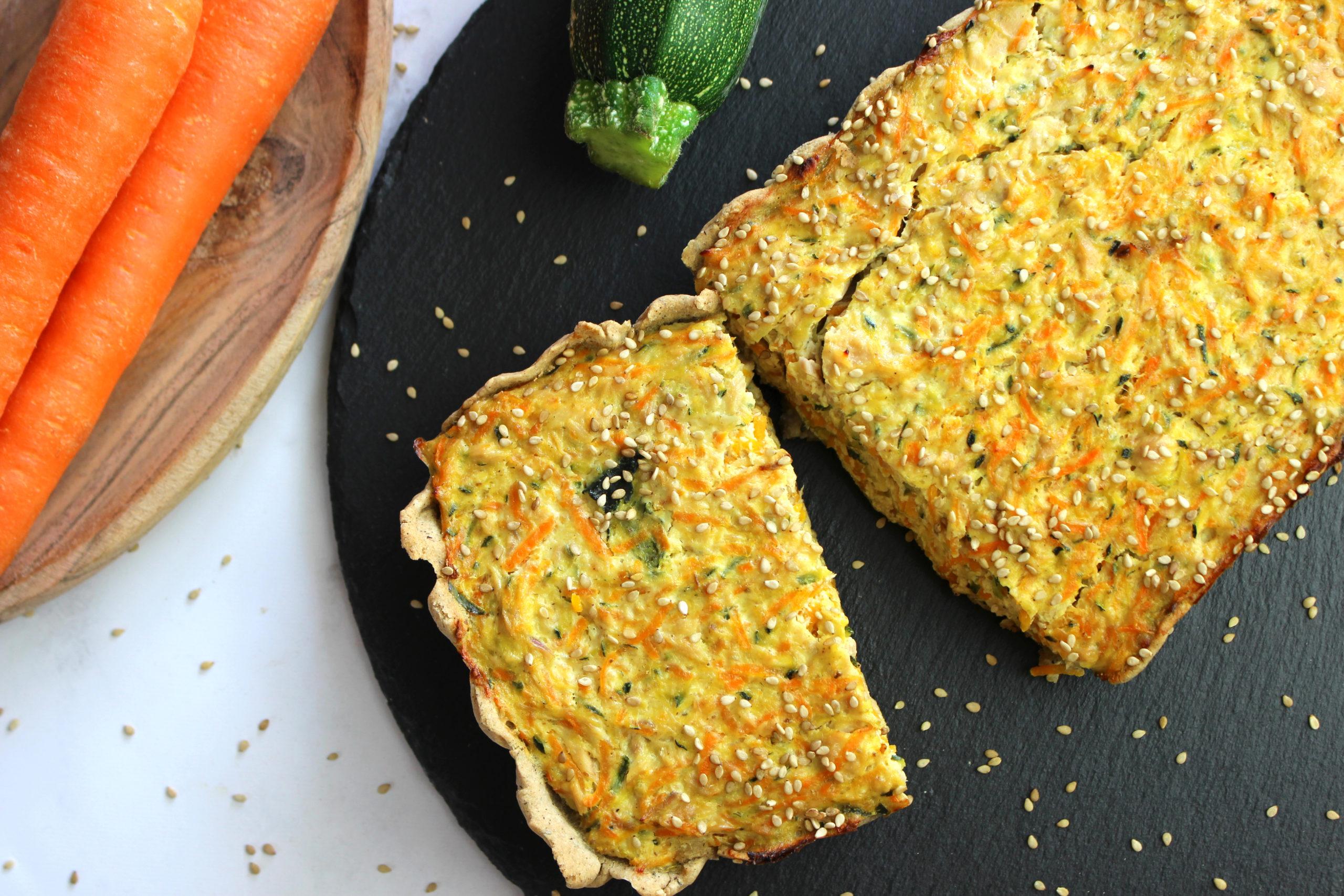 tartes aux légumes et au tofu soyeux sans gluten et végan