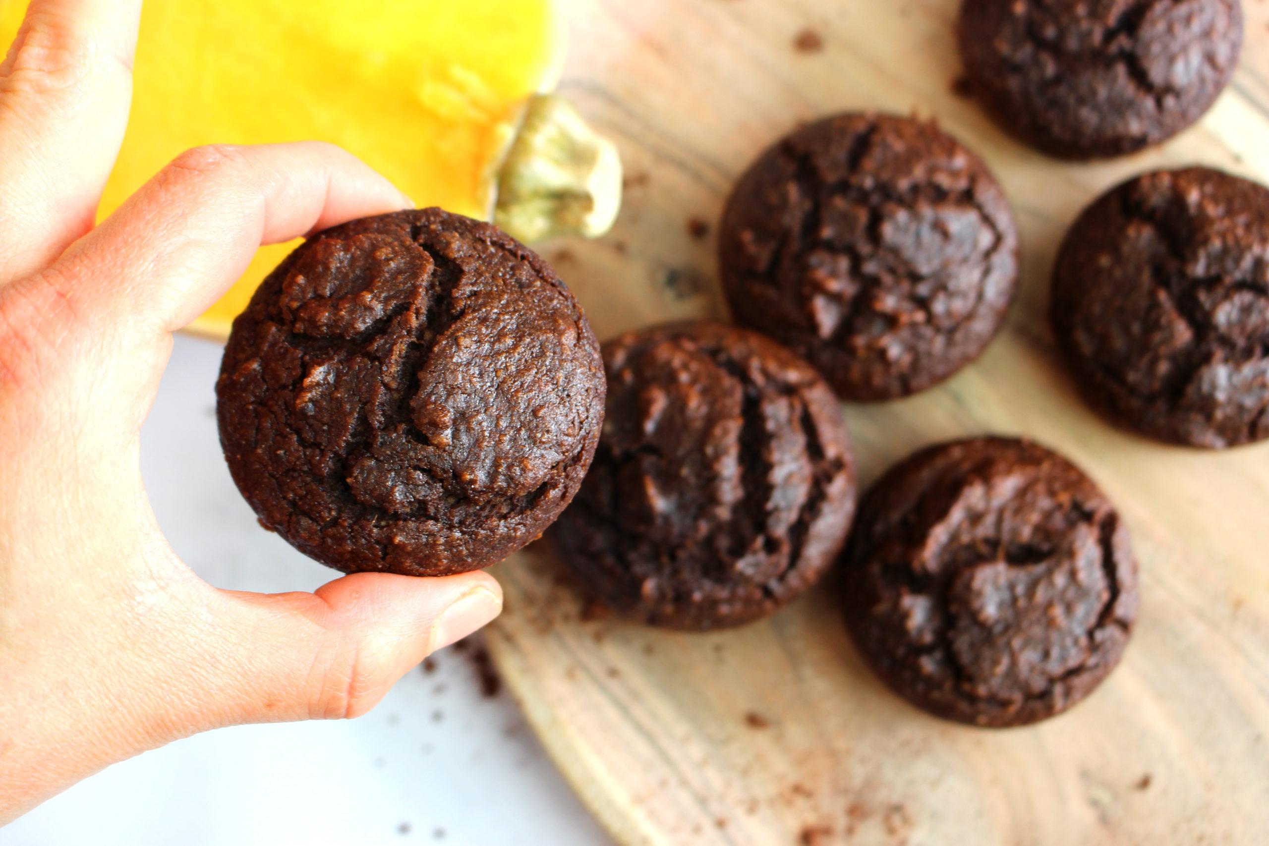 muffins moelleux butternut cacao sans gluten sans lait