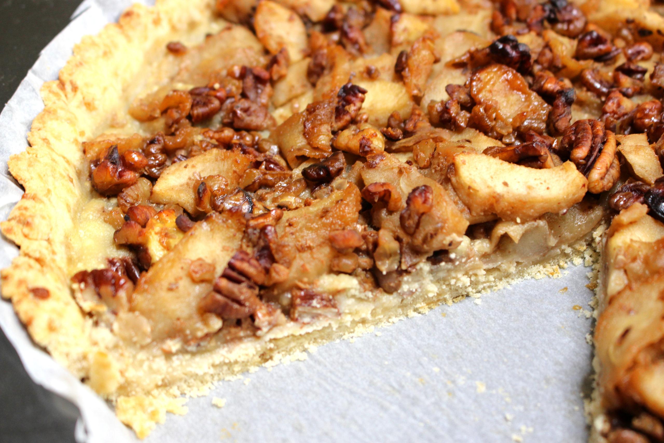 tarte pomme noix miel sans gluten sans lait