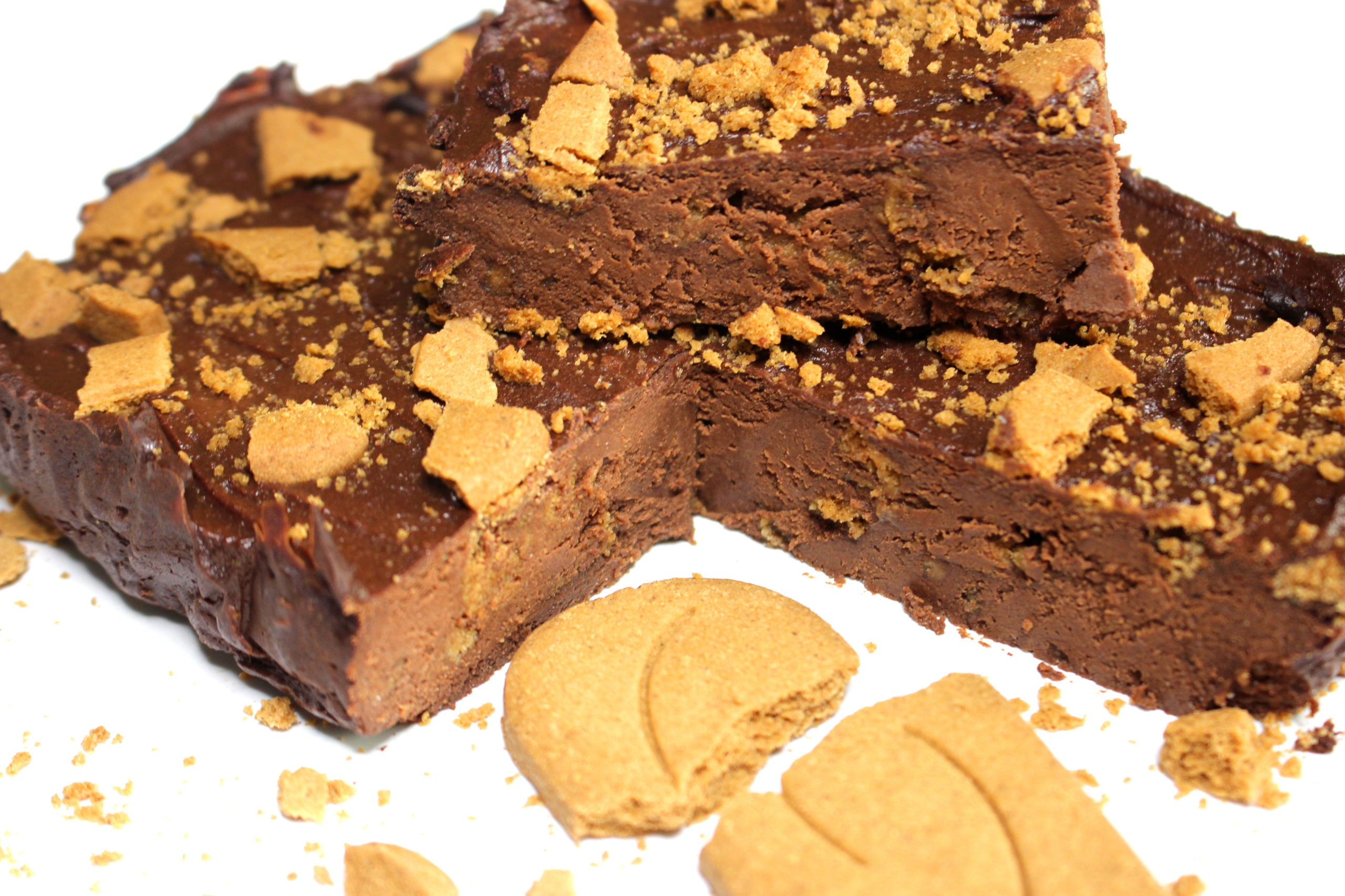 Brownie au chocolat et aux speculoos, sans gluten, sans produit laitier, avec les produits céliane glutenfree