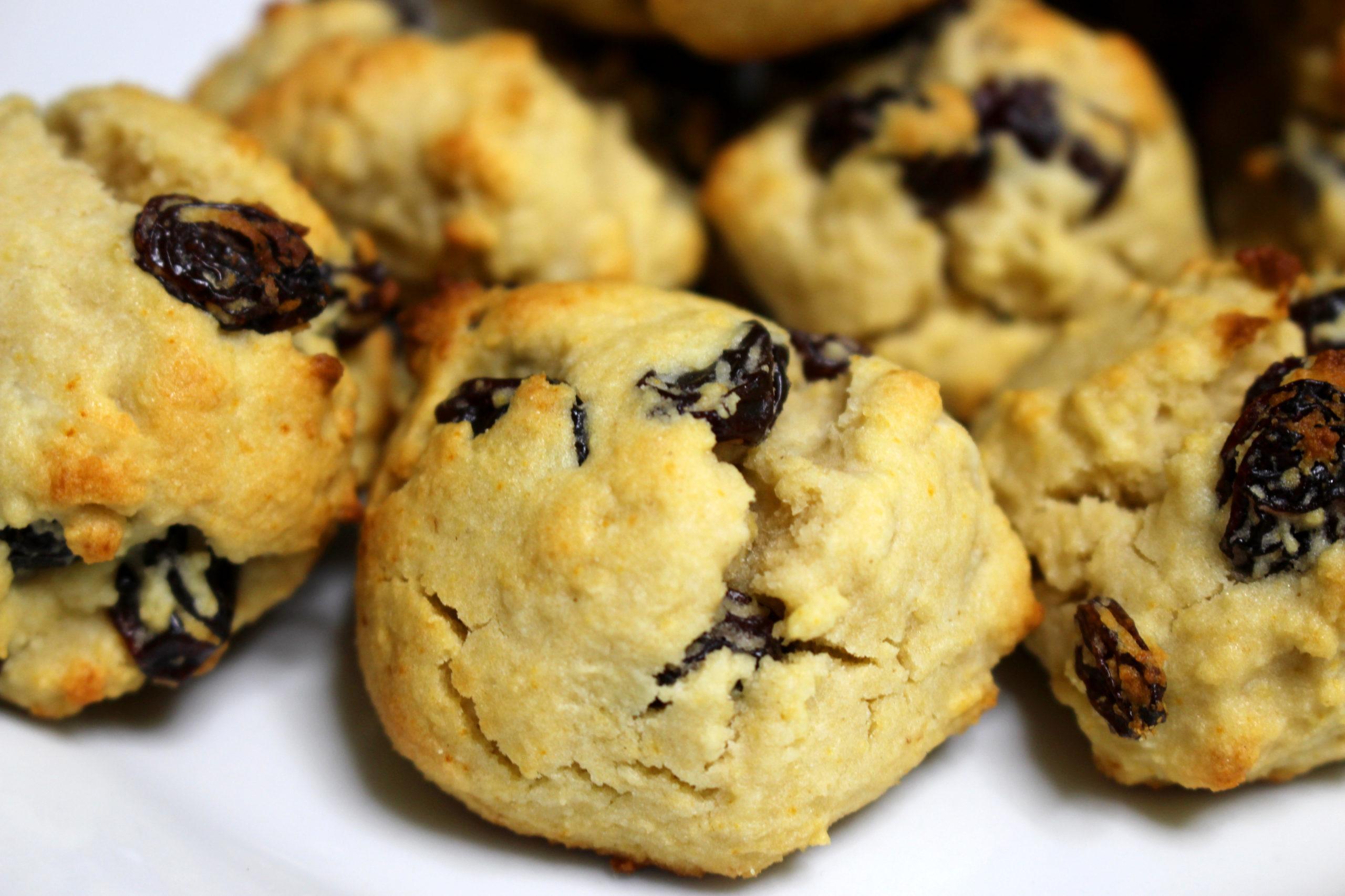 biscuits au rhum et raisins secs sans gluten et sans produit laitier