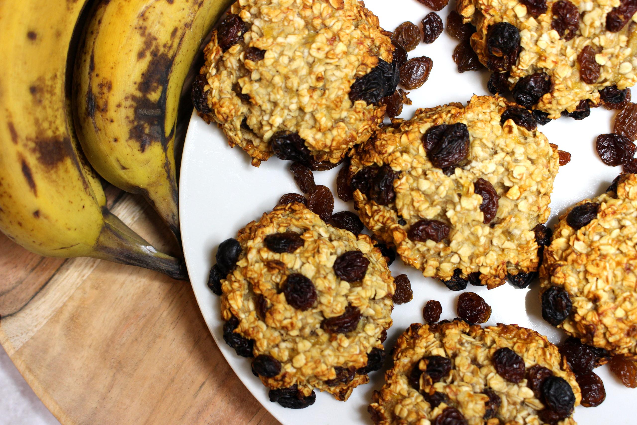 cookies avoine banane sans gluten sans lait