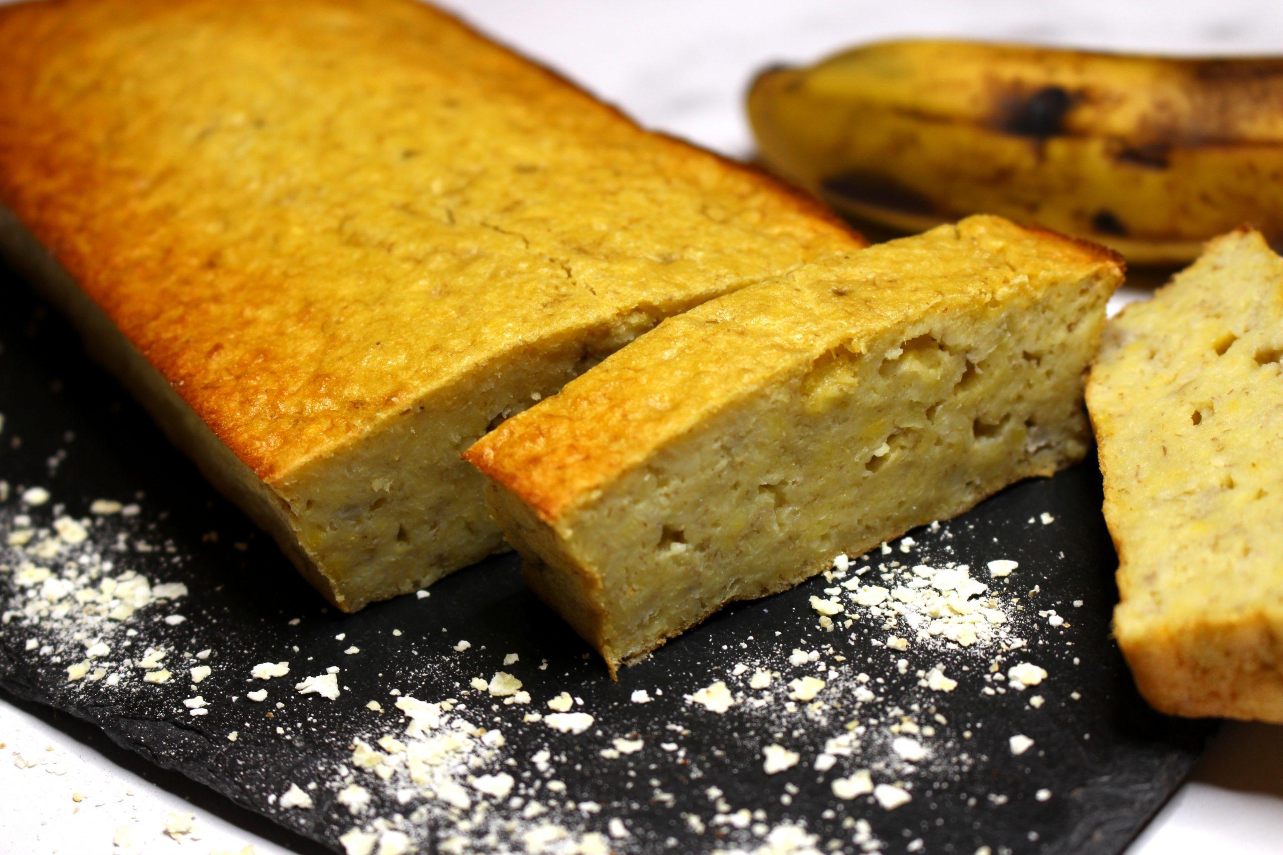 banana bread aux flocons de céréales sans gluten