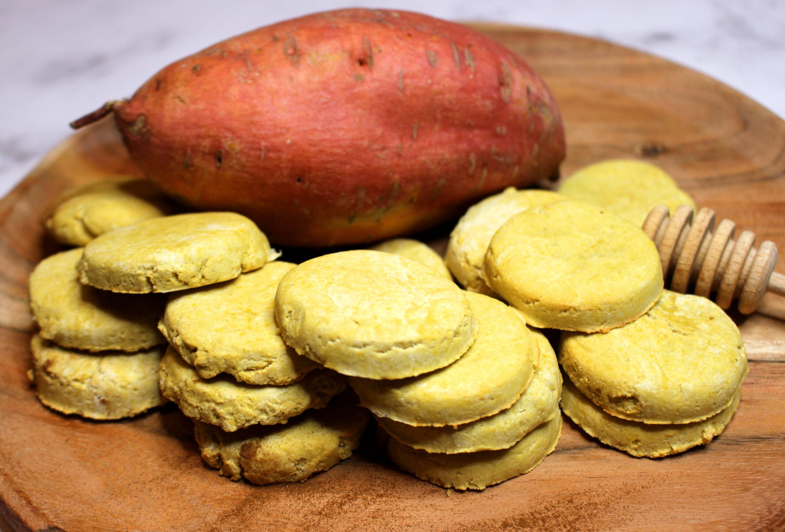 sablés à la farine de patate douce sans gluten sans lait