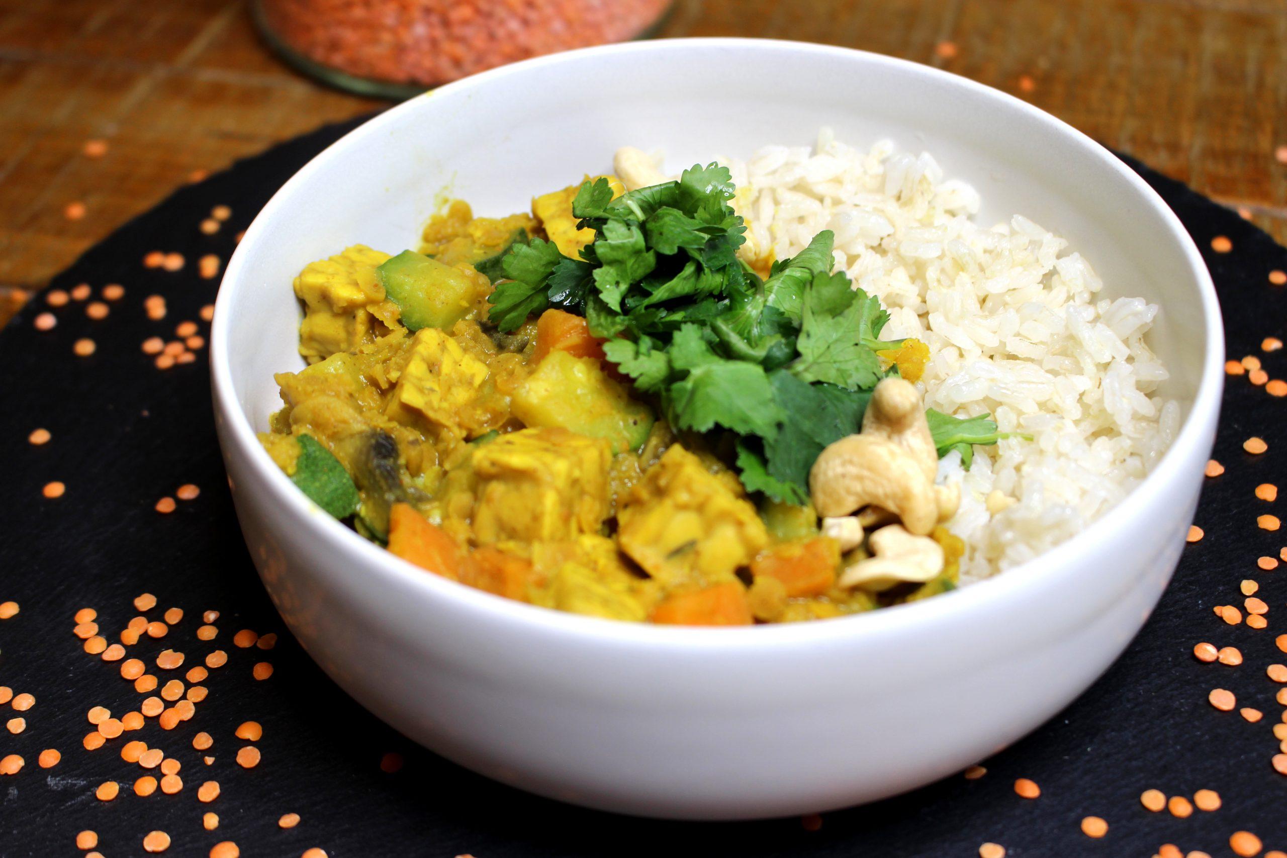 curry de tempeh